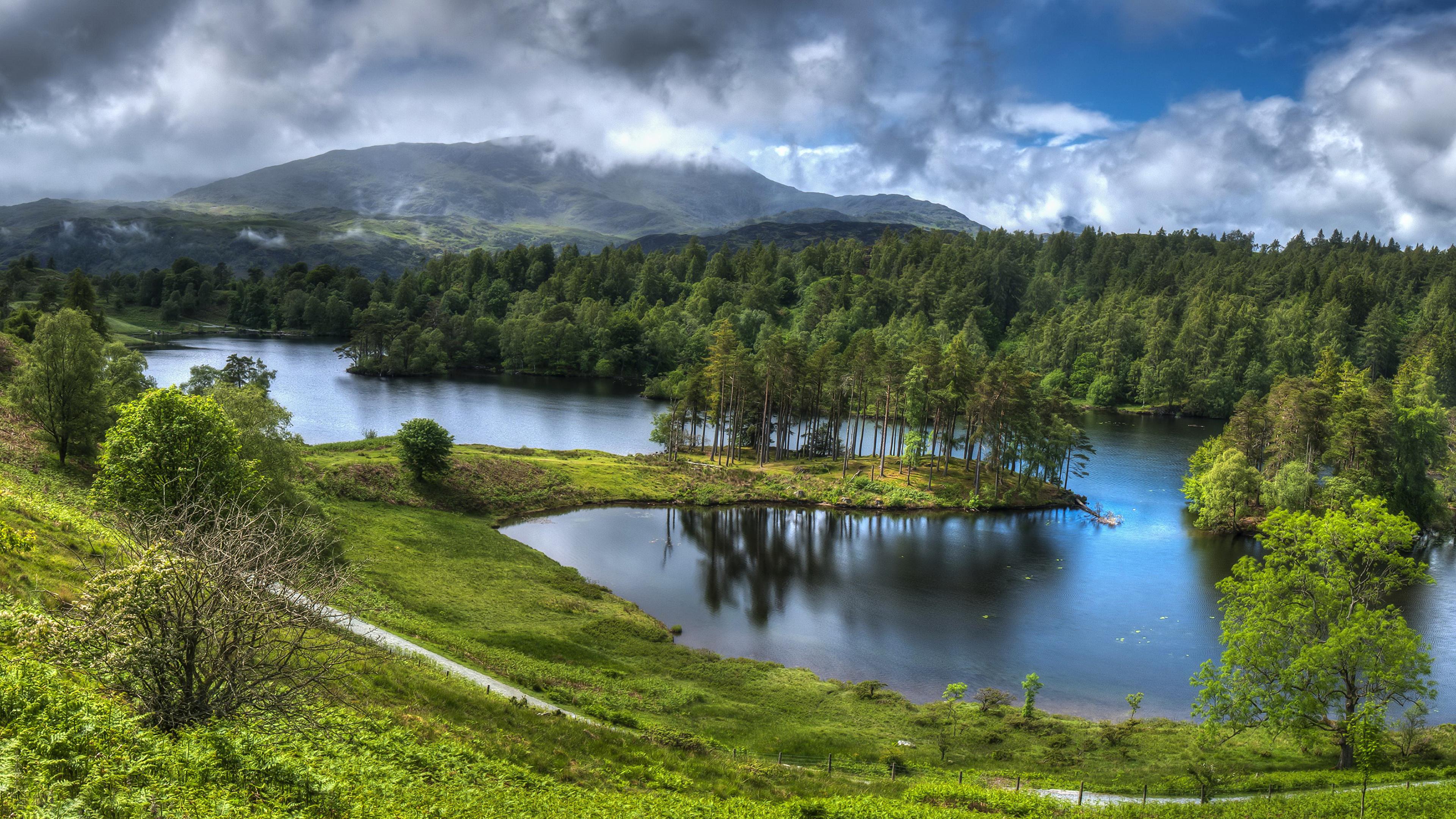 Озеро холмы  № 582598 бесплатно