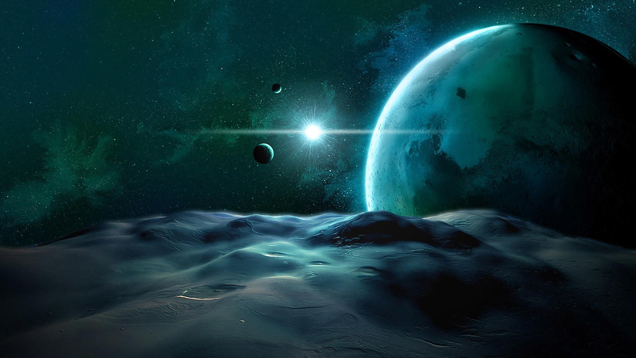 Обои Звездное небо над землей картинки на рабочий стол на тему Космос - скачать  № 1768363 без смс