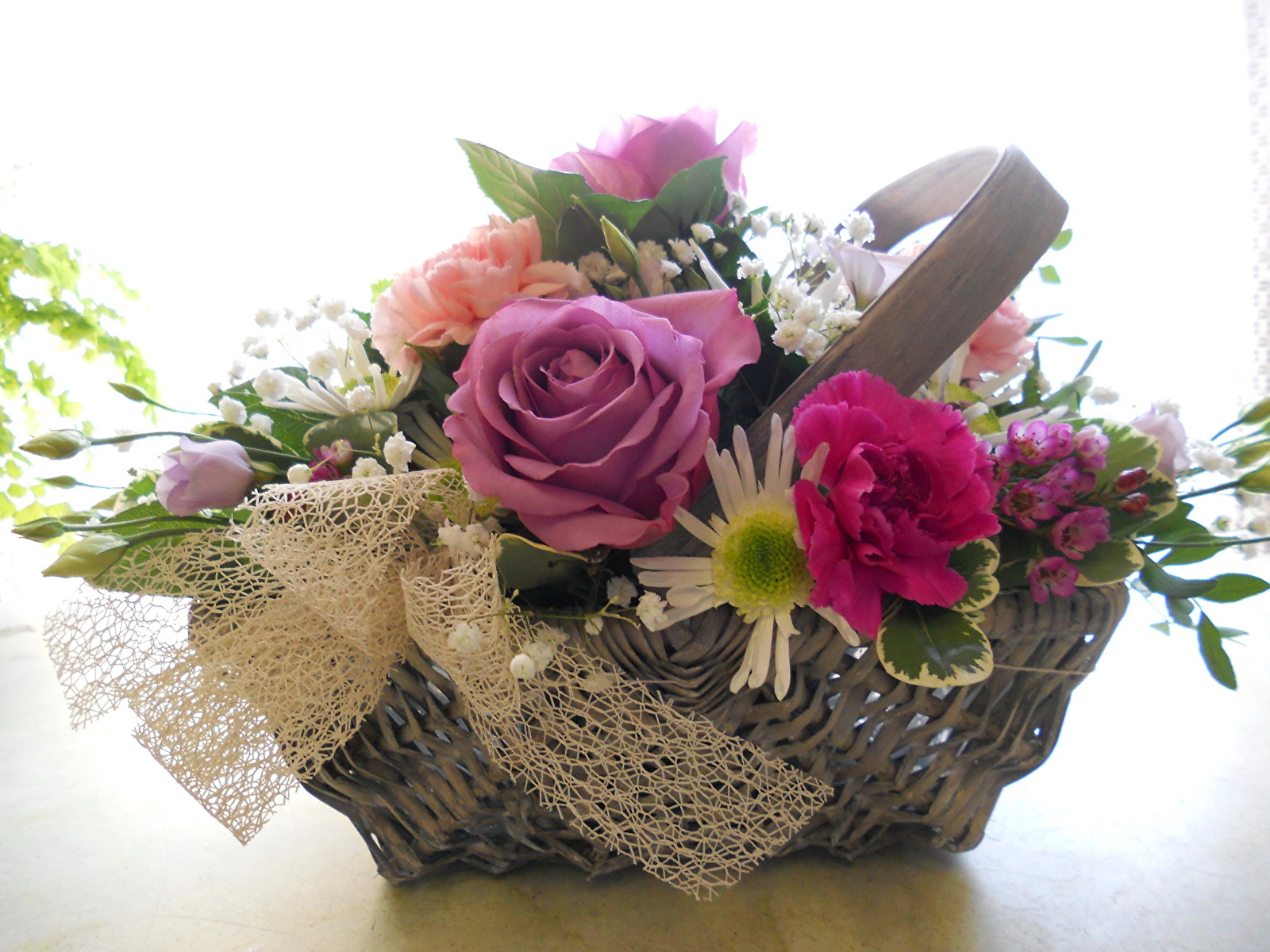 Цветы корзины букеты фото