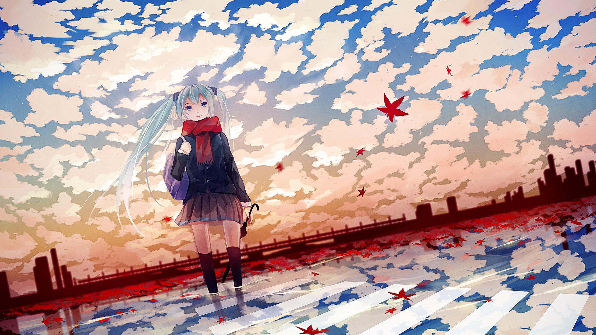 Девушка на балконе японское аниме  № 3866837 бесплатно
