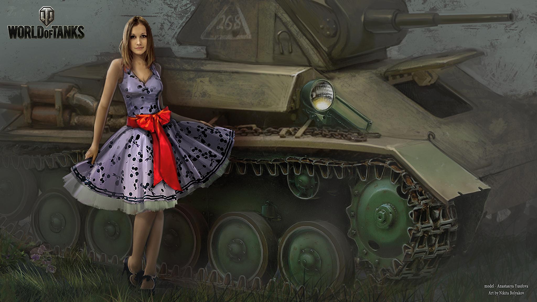 обои для рабочего стола ворлд оф танк с девушками № 214768 загрузить