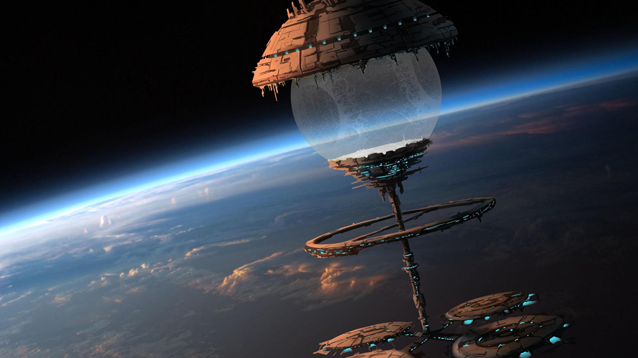 Обои космический корабль планета картинки на рабочий стол на тему Космос - скачать  № 3950375 без смс