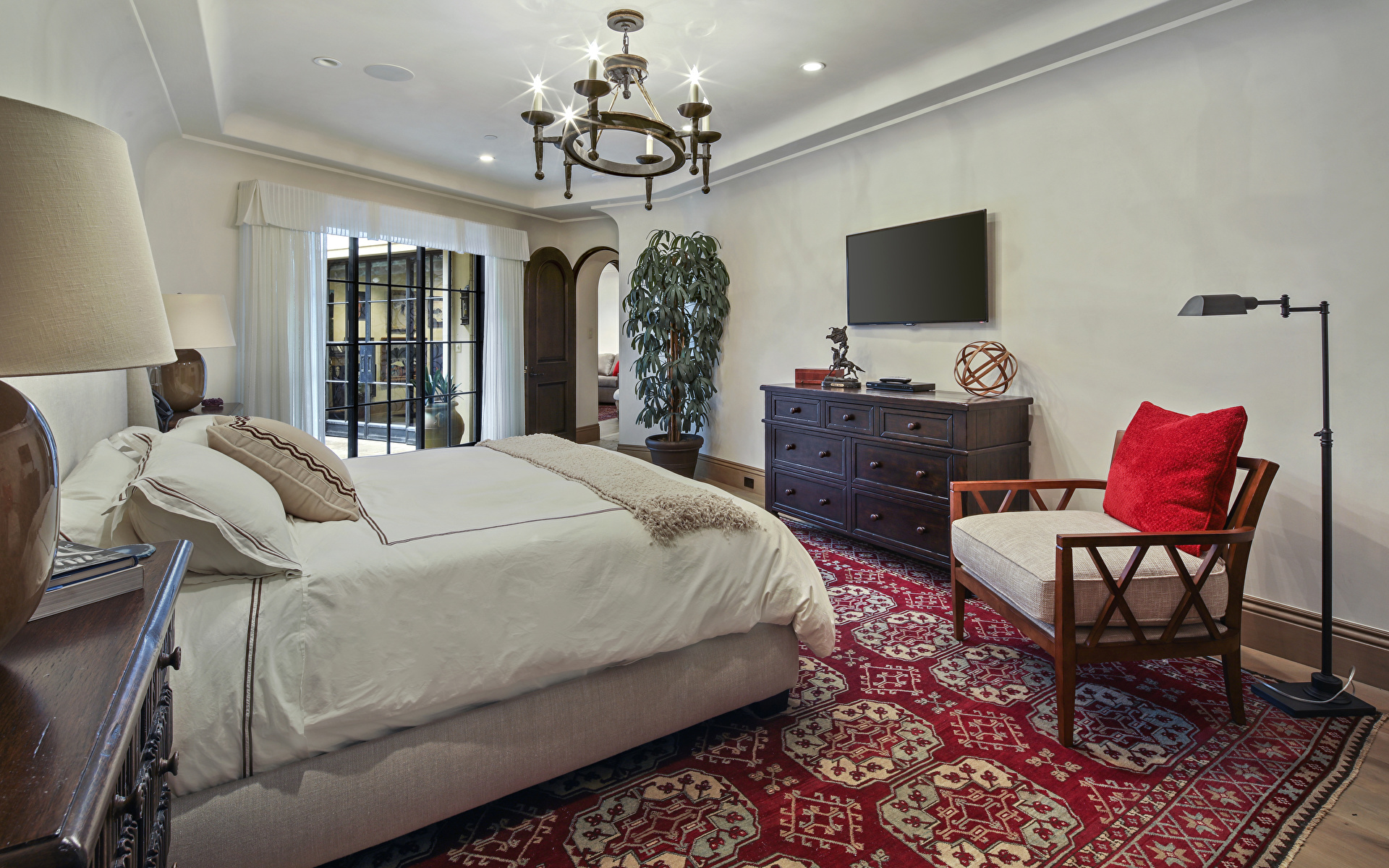 Интерьер ковры кровать  № 3537353 бесплатно