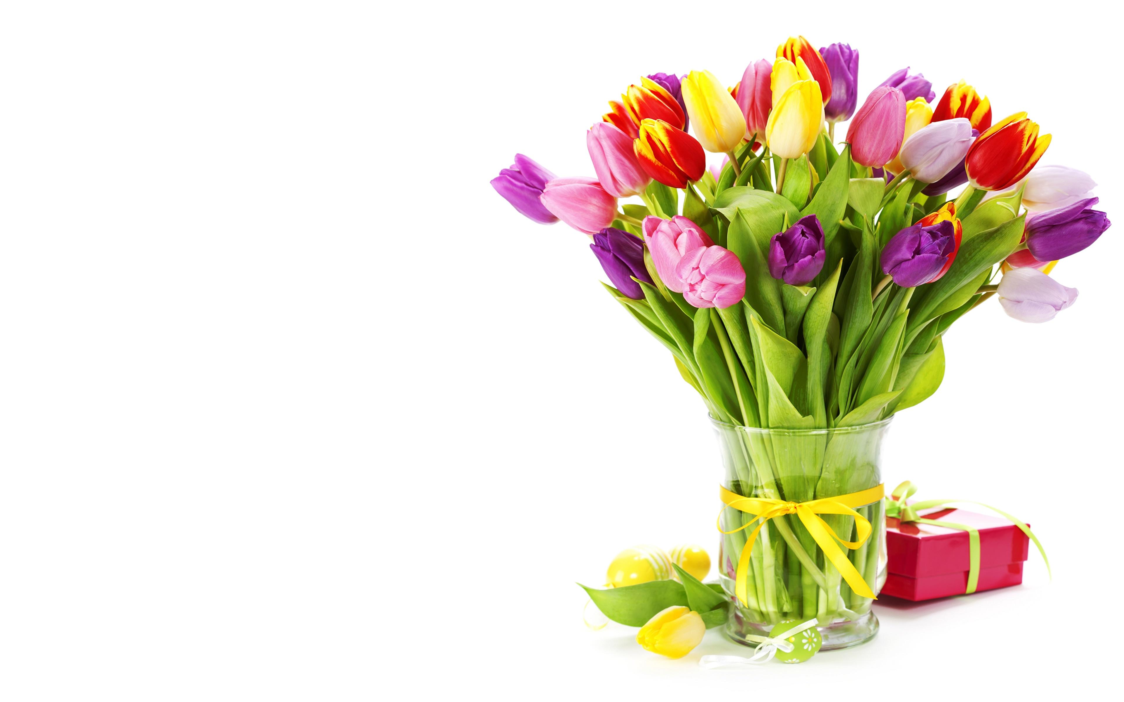 тюльпаны ваза море  № 1012860 загрузить