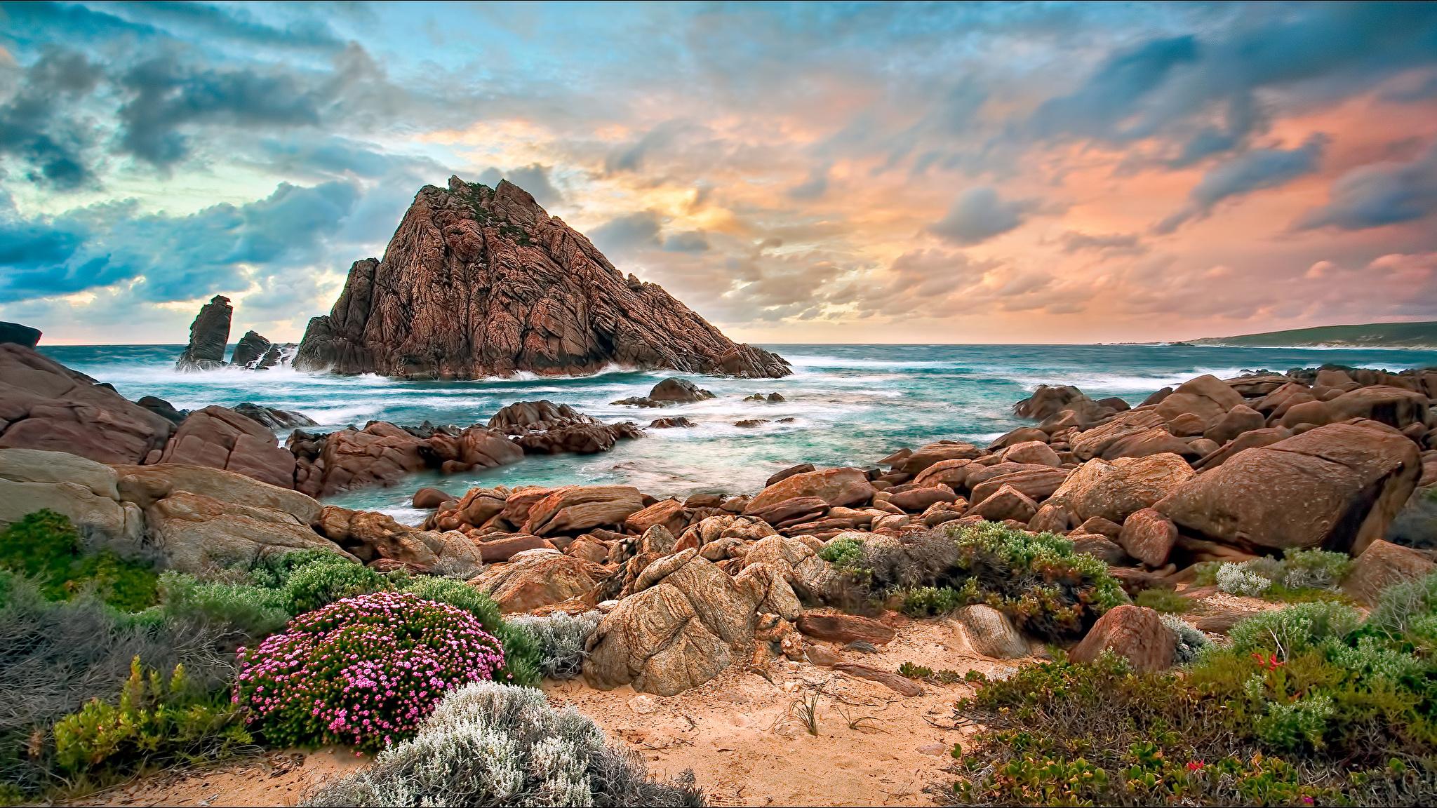море океан камни скалы закат sea the ocean stones rock sunset  № 2530538  скачать