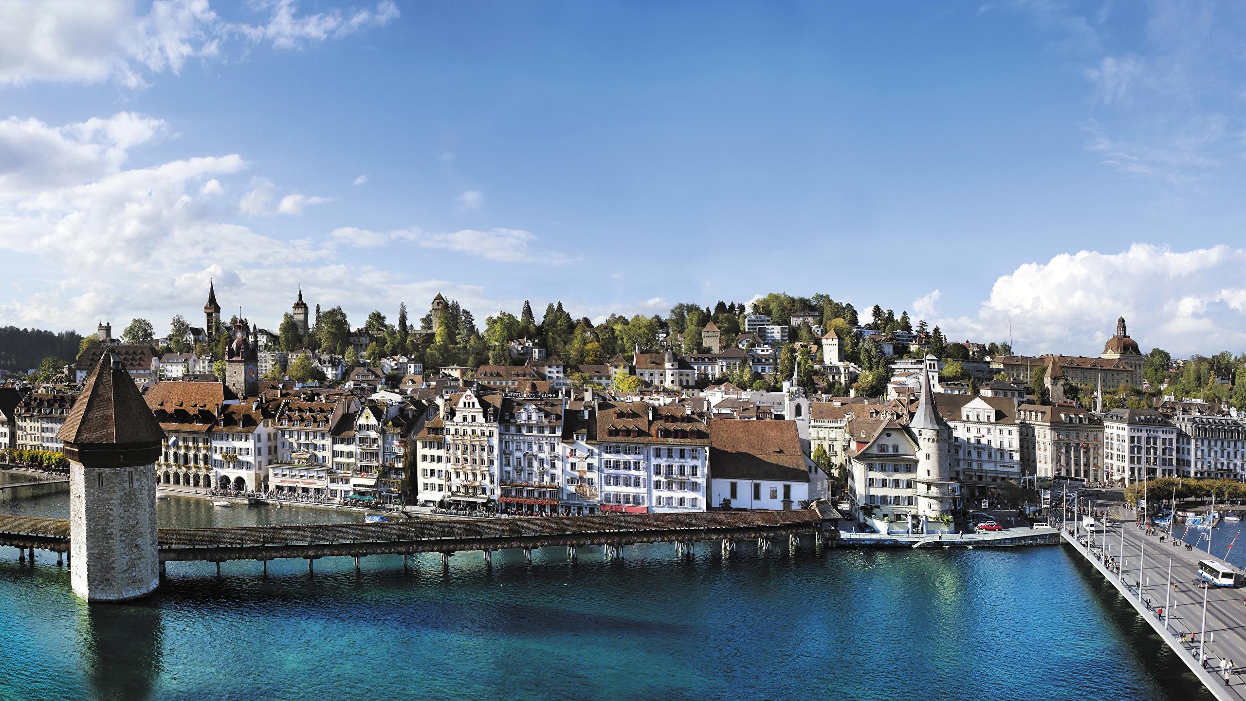 Chapel Bridge, Lucerne, Switzerland  № 1473307 без смс