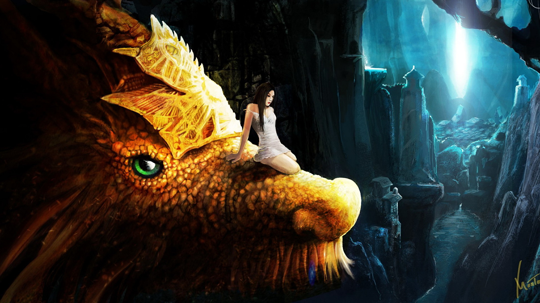 Живые обои с драконами на рабочий стол