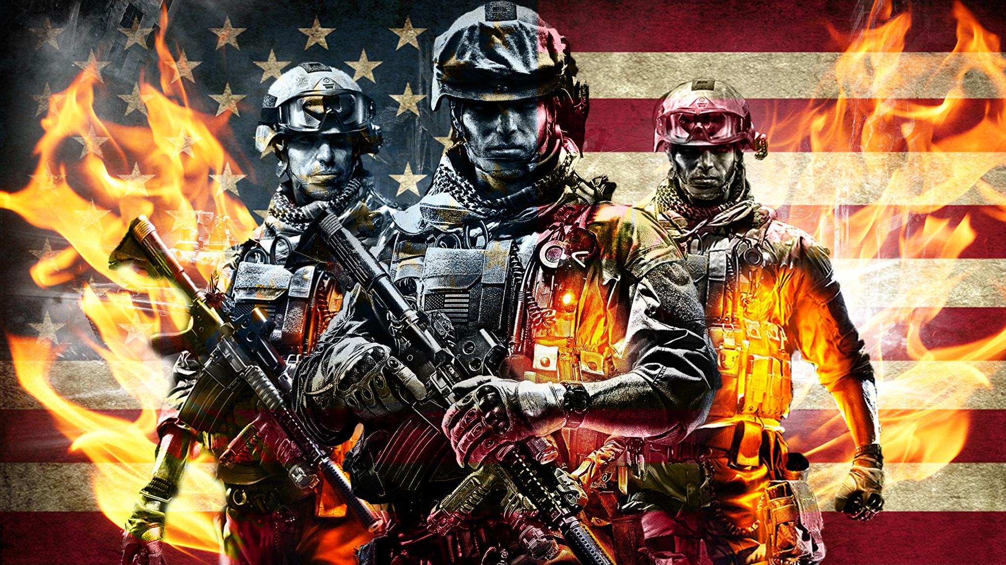 Battlefield 3 солдат линии оружие  № 3460675  скачать