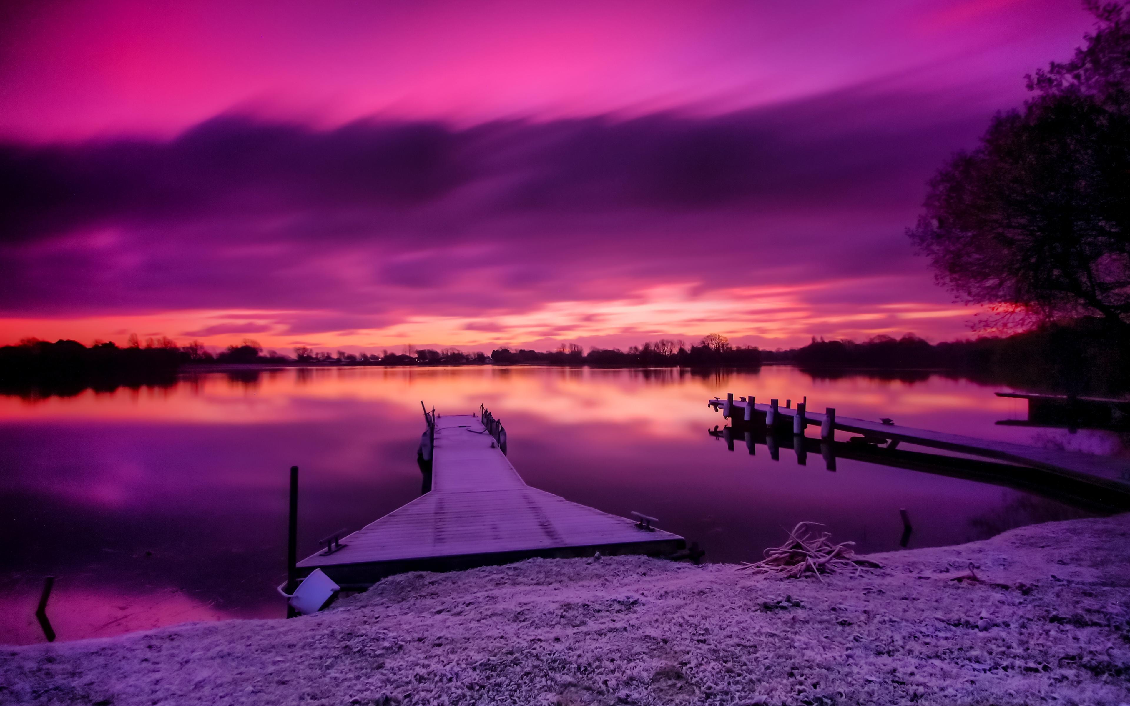 рассвет озеро причал  № 2738574 загрузить