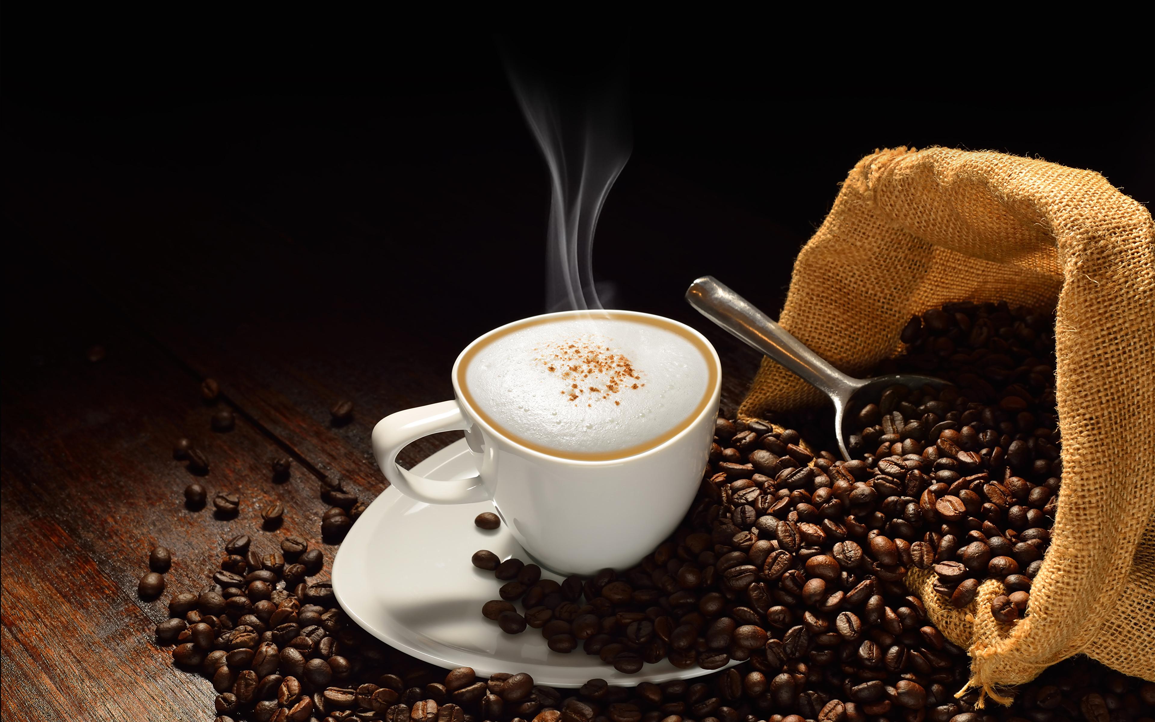 Чашка кофе с зернами  № 2153083 бесплатно