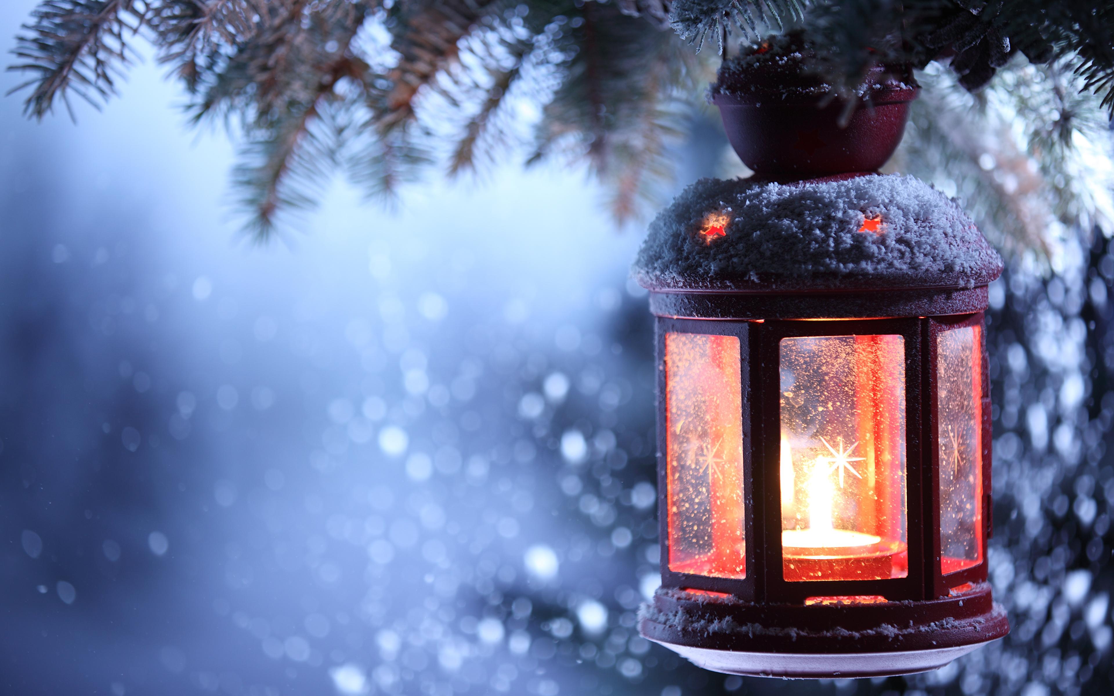 лампа свеча снег рождество lamp candle snow Christmas  № 3982693 бесплатно