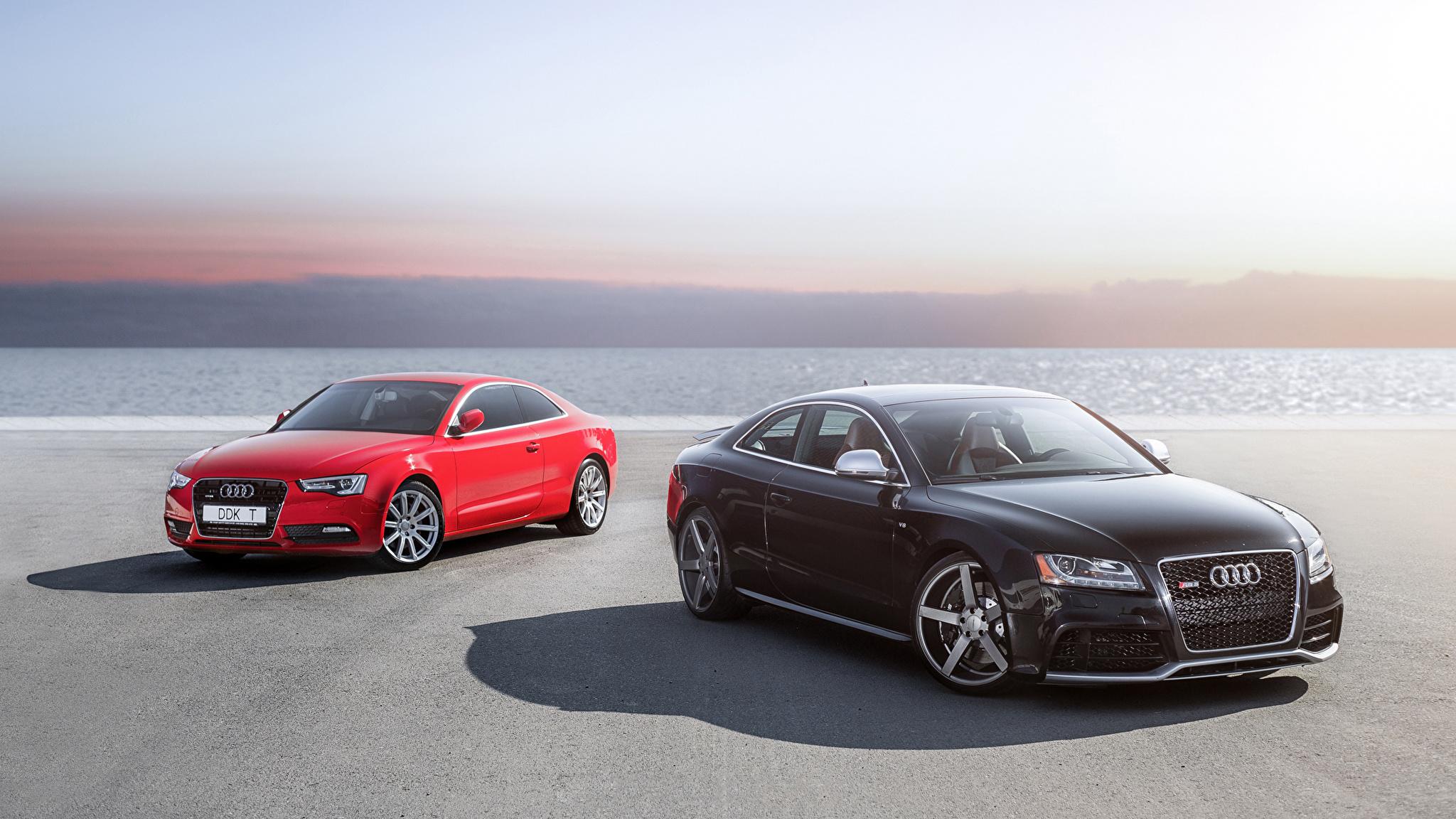 Audi A5 красная купе  № 3761337 загрузить