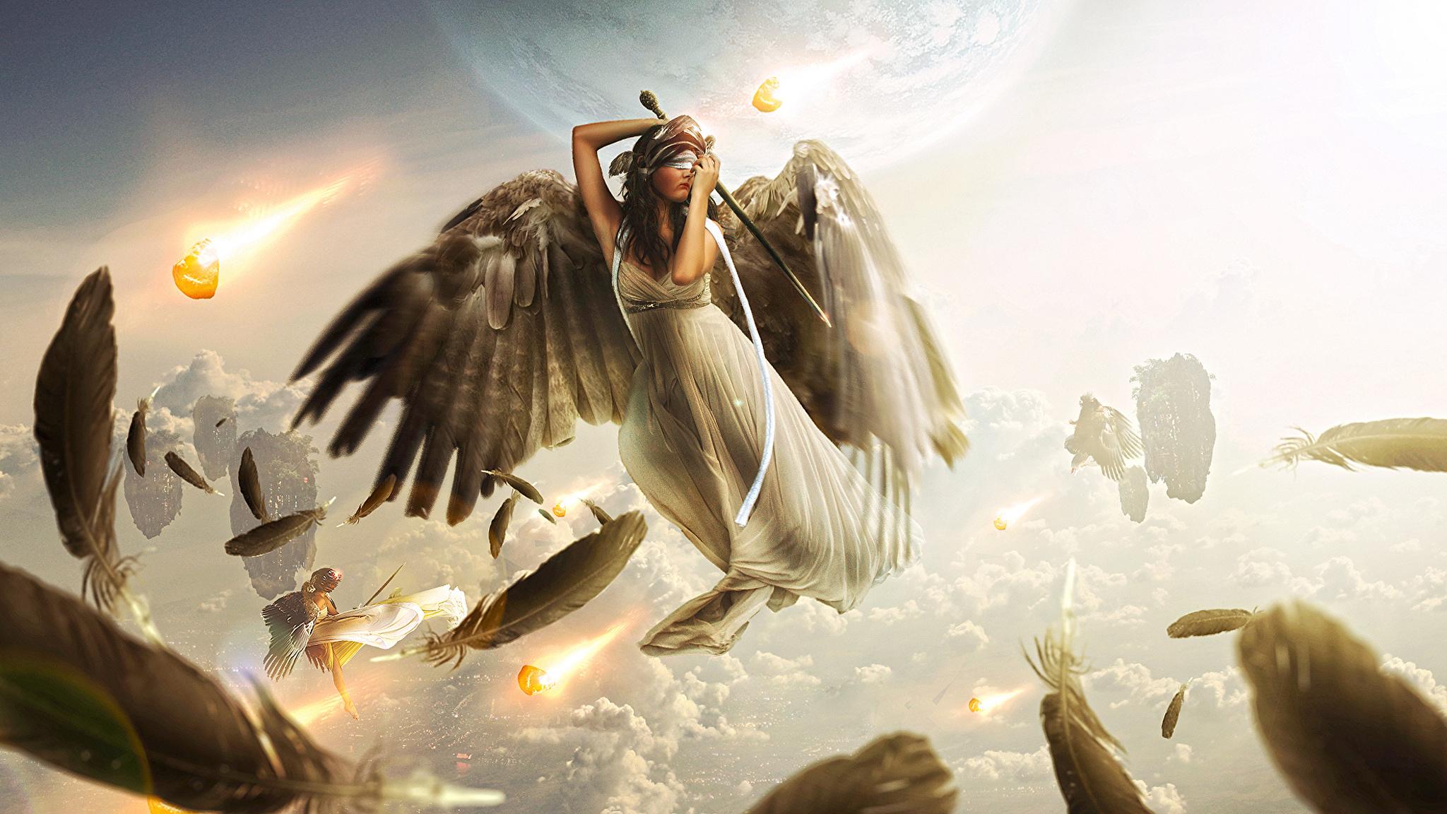 Ангелы в небе  № 2270169  скачать