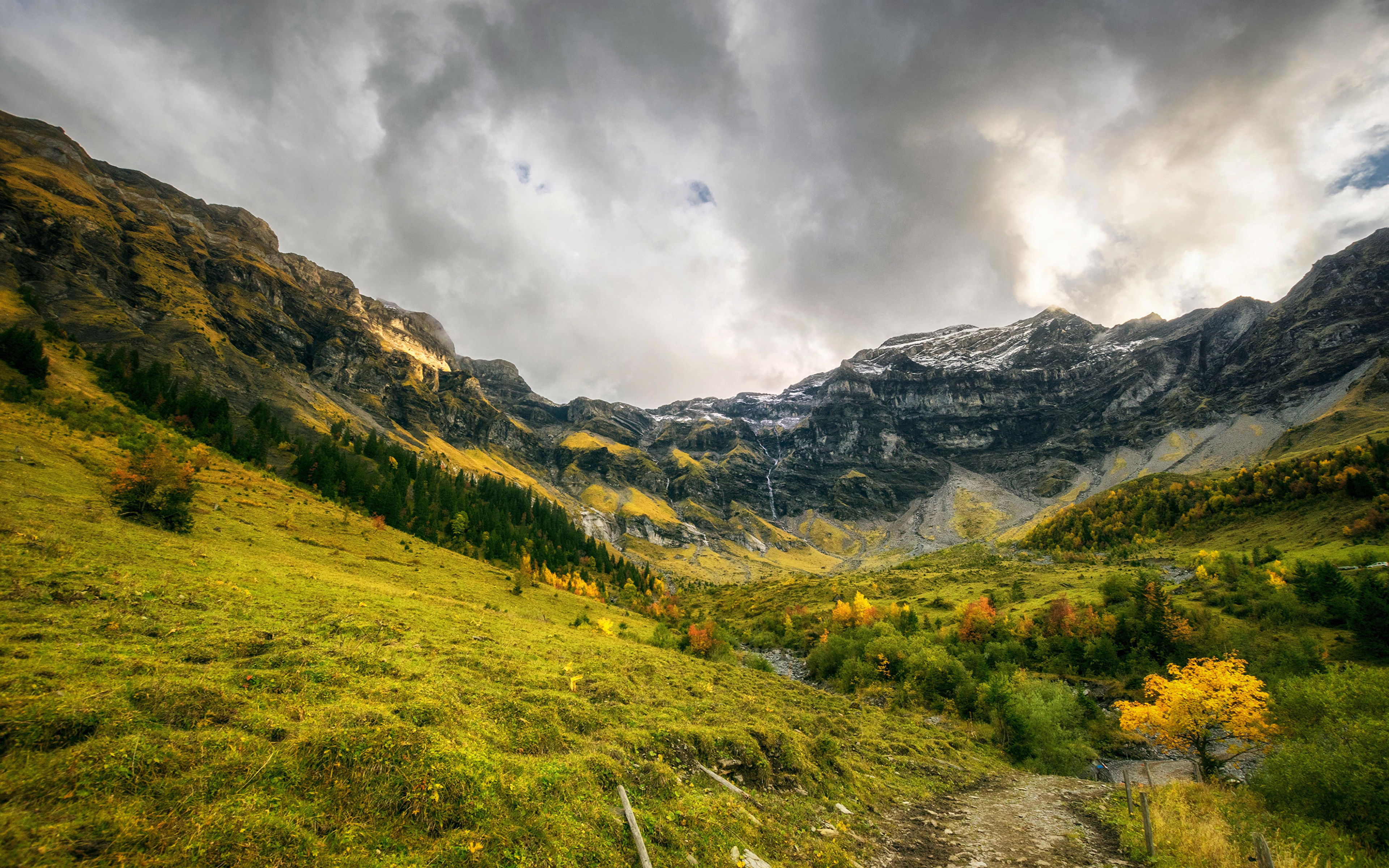 ущелье облака горы  № 3848127  скачать