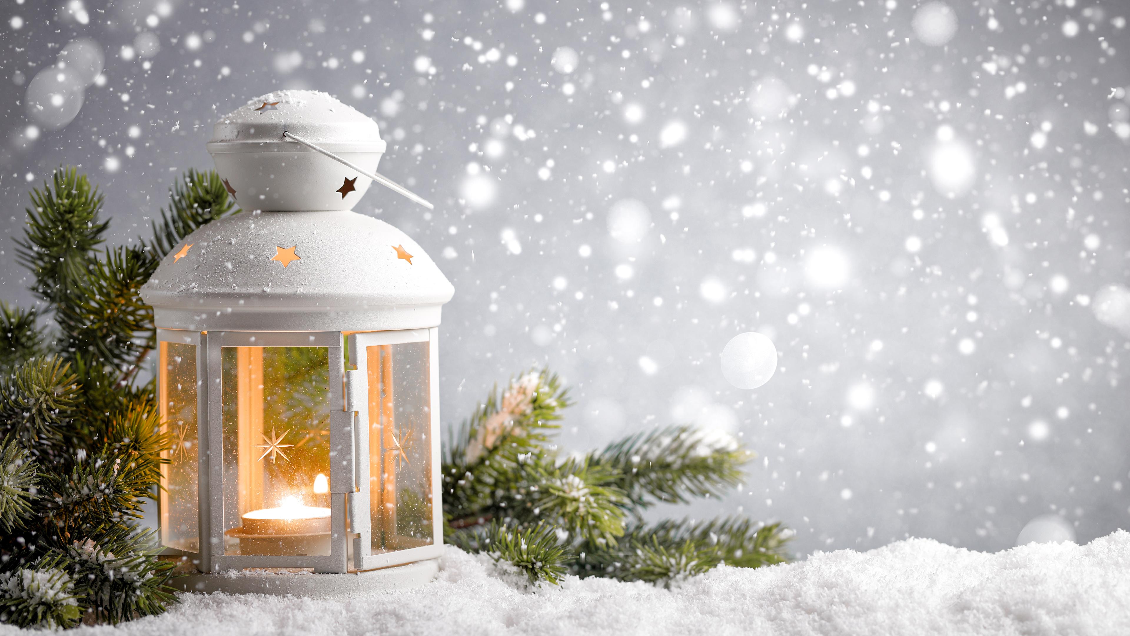 лампа свеча снег рождество lamp candle snow Christmas  № 3982789  скачать