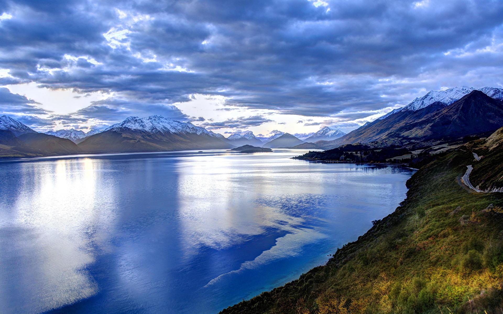 Небо горы озеро  № 2789998 бесплатно