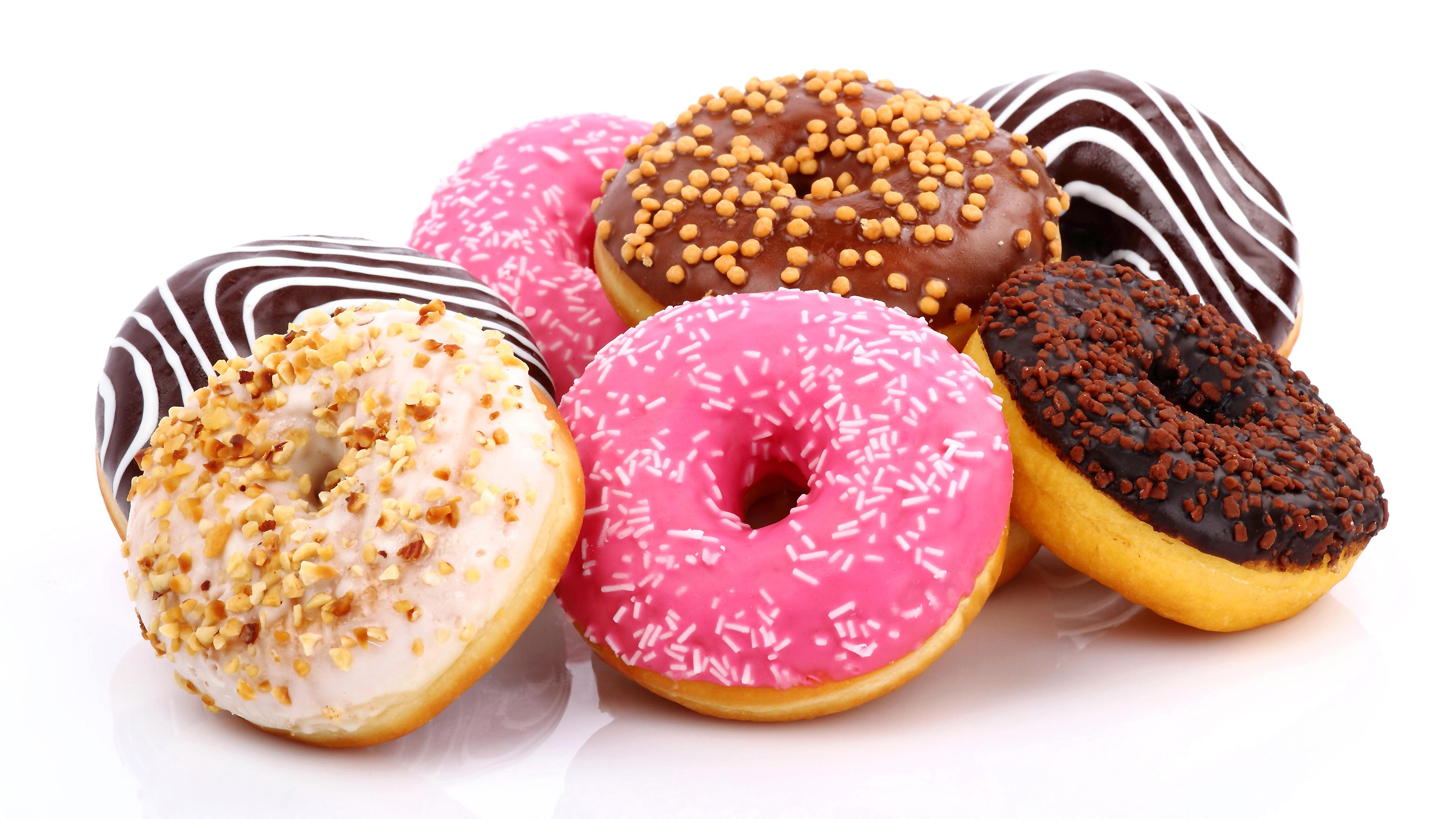 Пончик в белой глазури  № 3681761 без смс