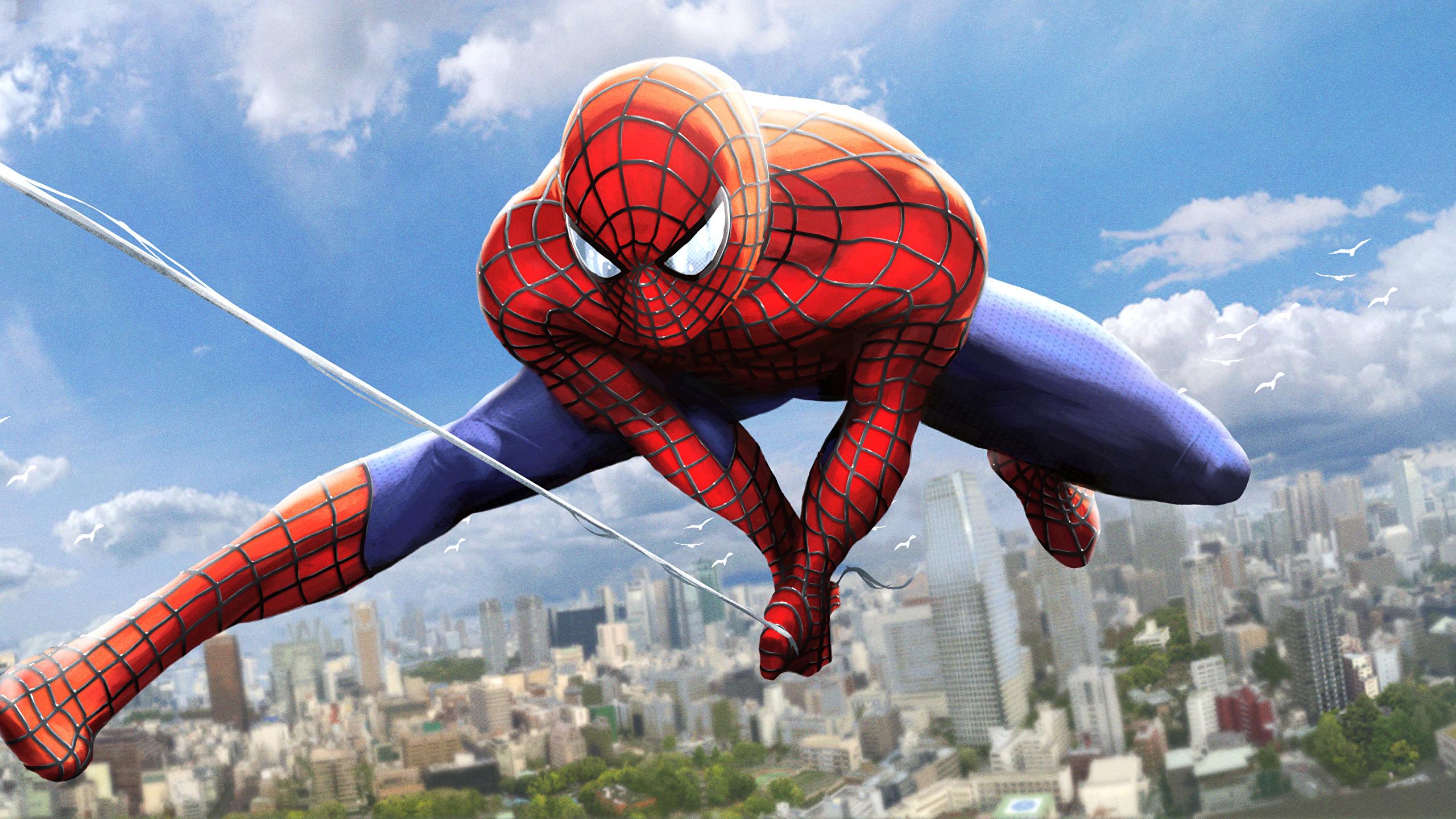 человек паук прыжок  № 3316522 бесплатно