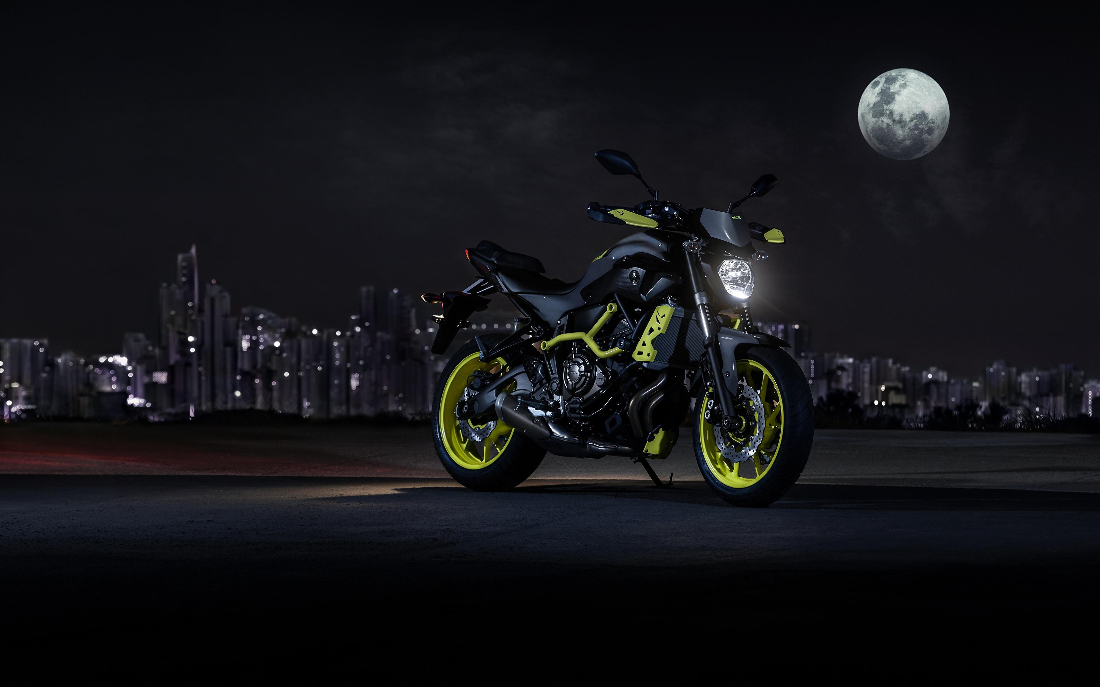 мотоцикл ночь город  № 1584667 загрузить