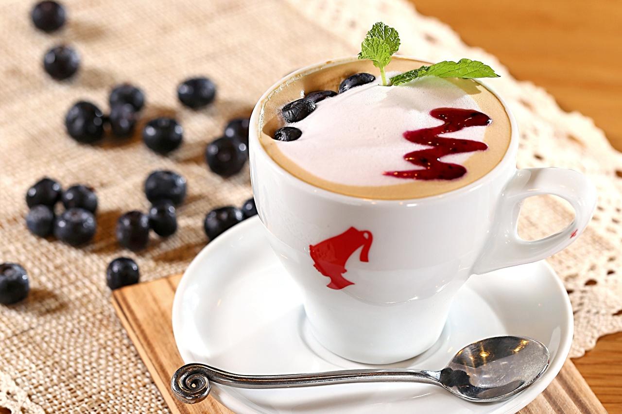 Напитки Кофе Чашка Блюдце Ложка Еда