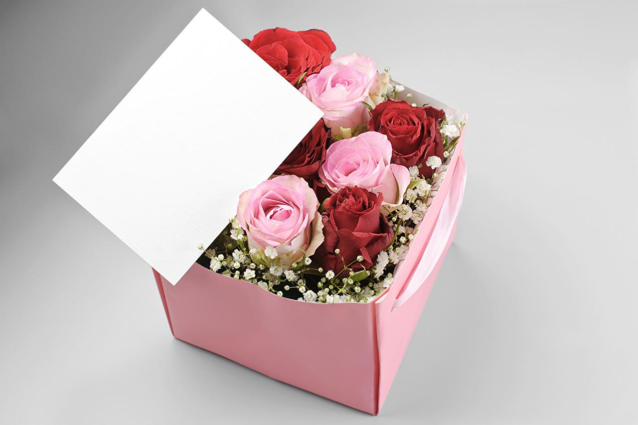 Открытки цветы в коробке фотографии и картинка