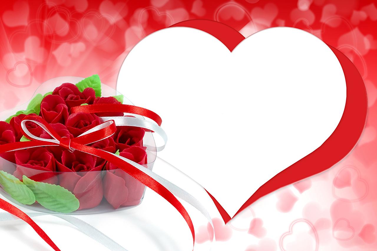 Картинки для поздравления с сердечками 955