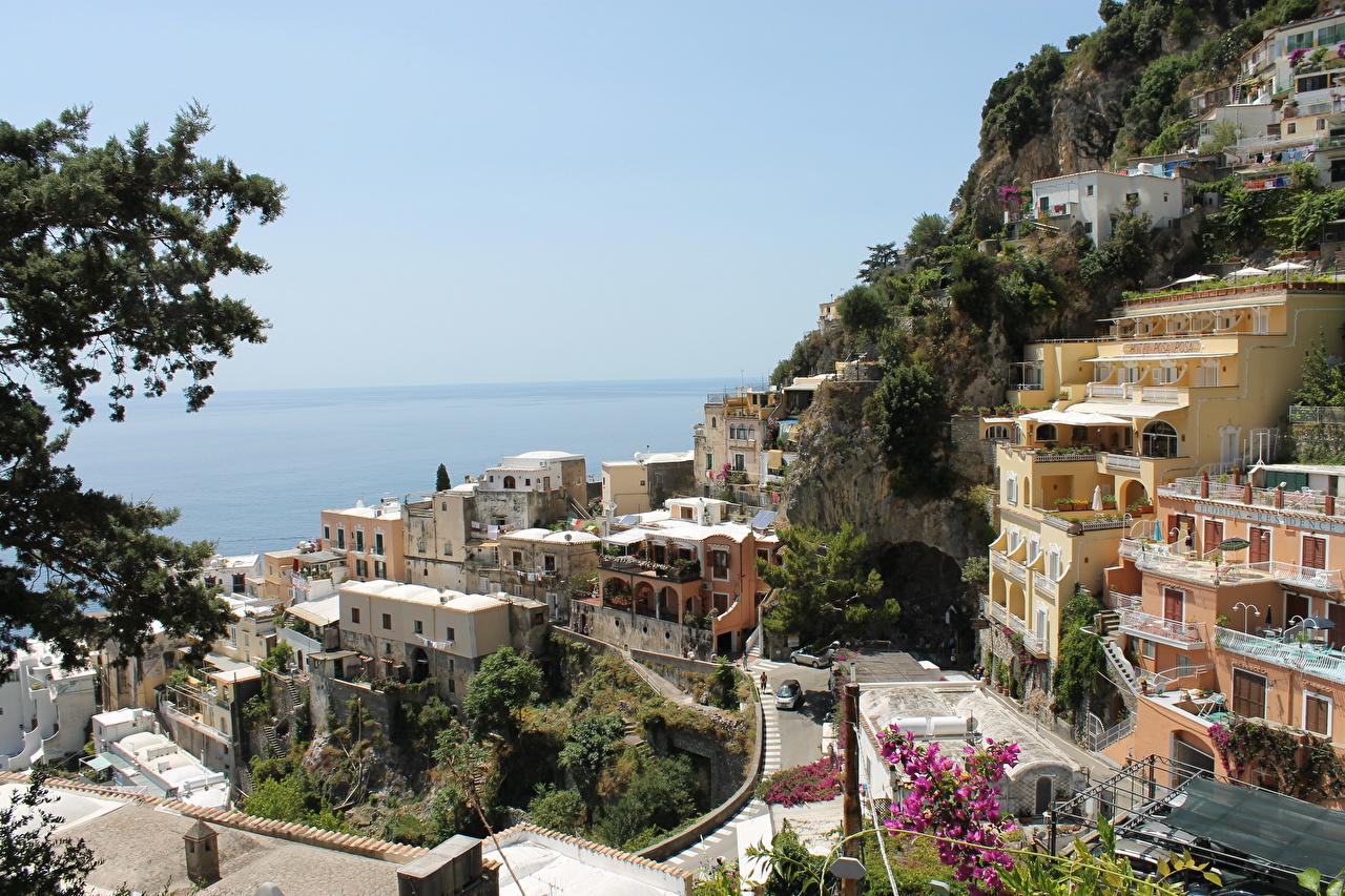 Италия Дома Amalfi Улица Города