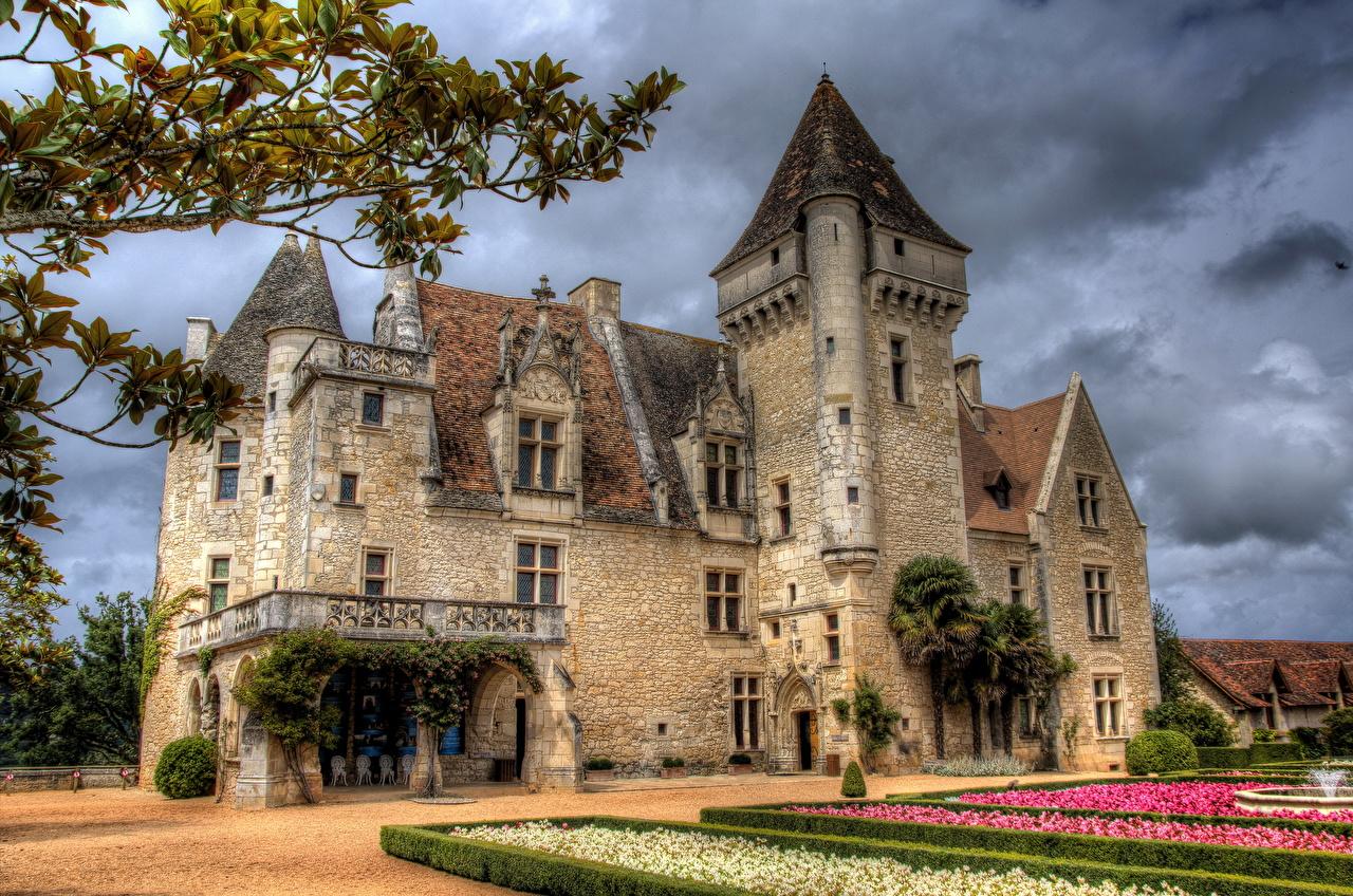 ����� ������� Chateau des Milandes Dordogne HDR ������