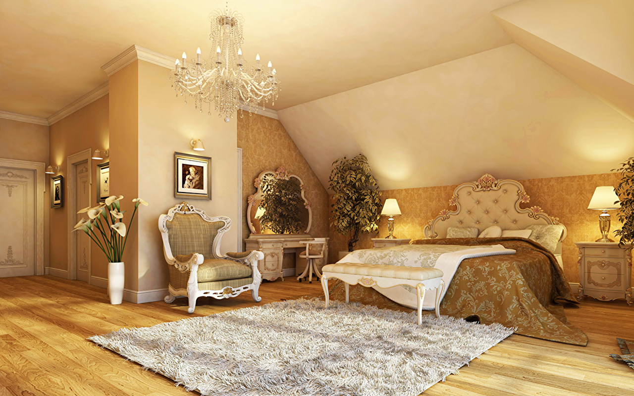 Комната интерьер фото спальня