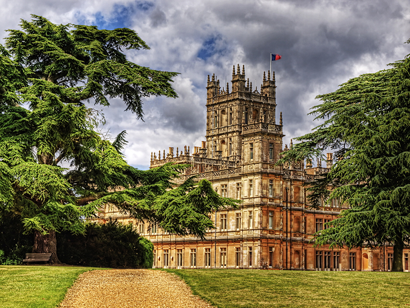 ����� ������ Highclere Hampshire HDR ������