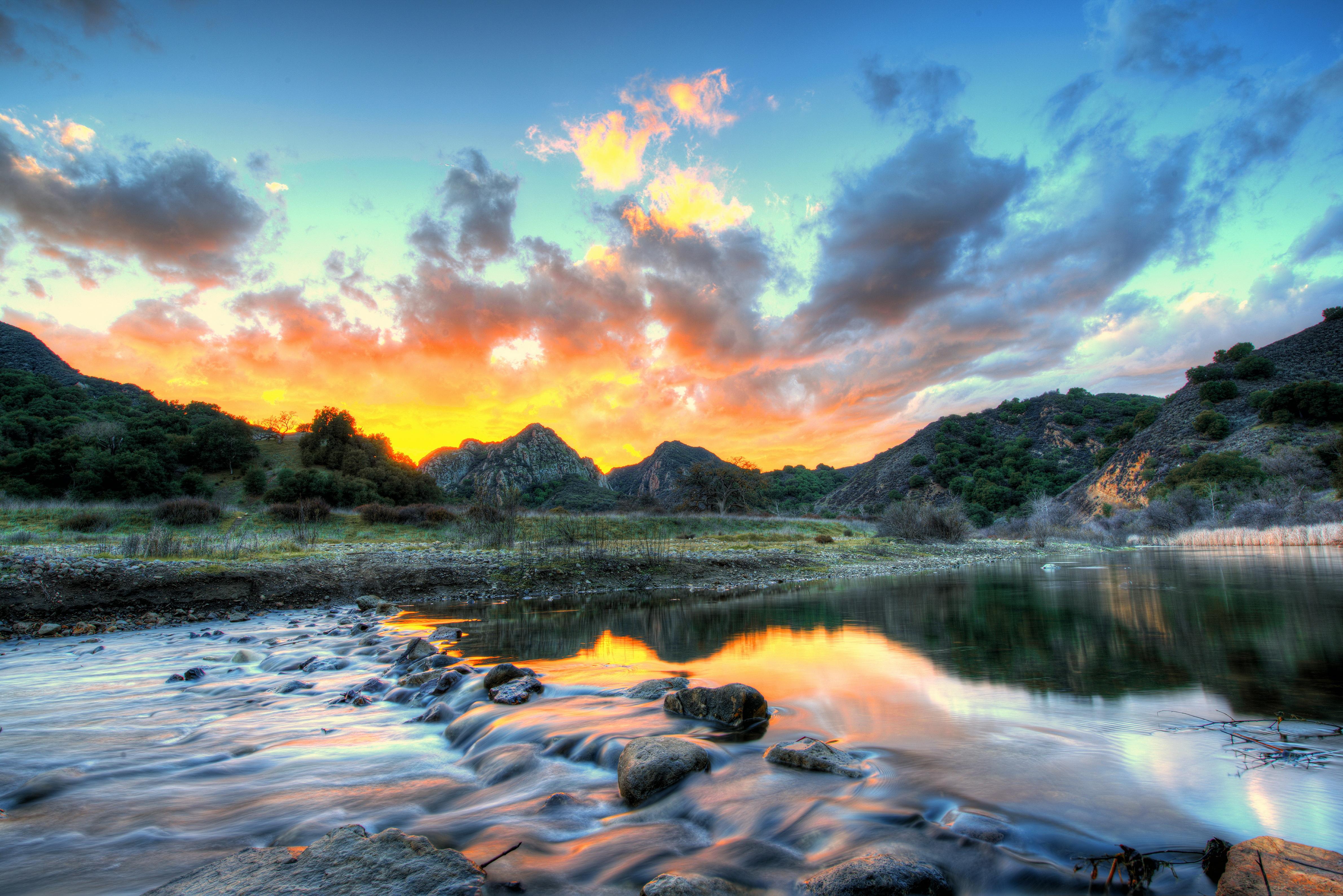 Природа облака небо река  № 2558850 без смс