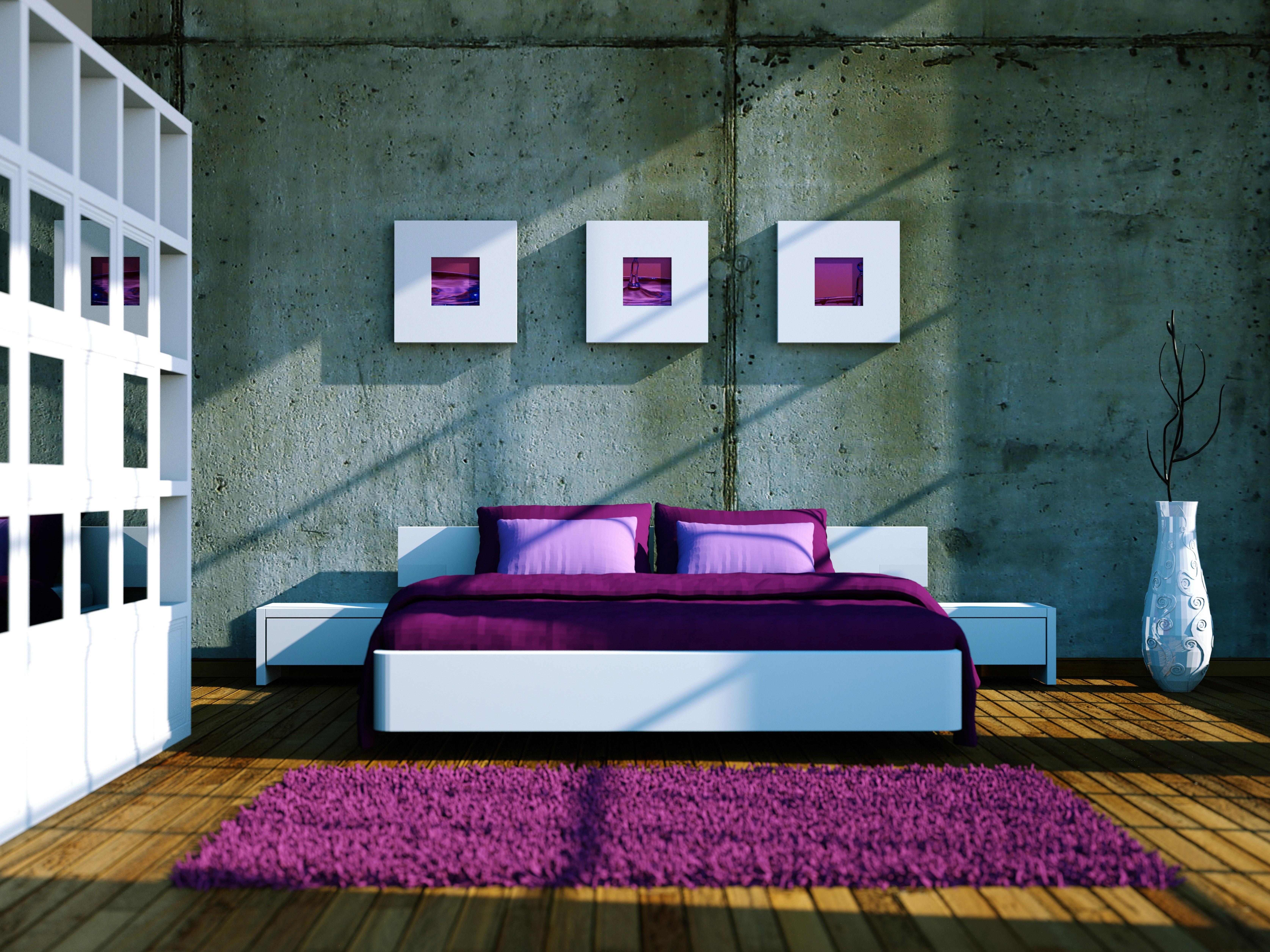 Интерьер спальня комната кровать  № 3537196  скачать