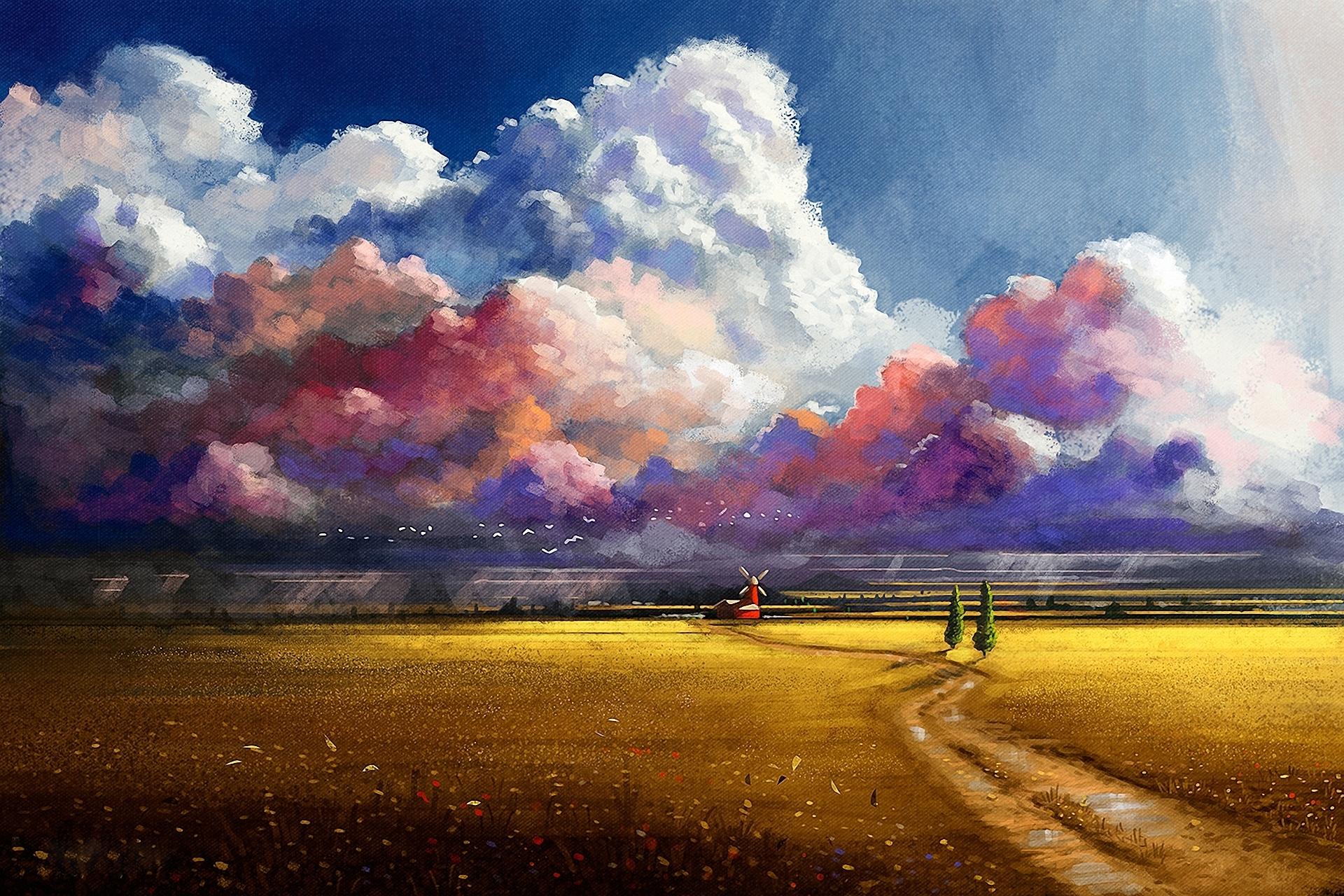 пейзажи природы живопись:
