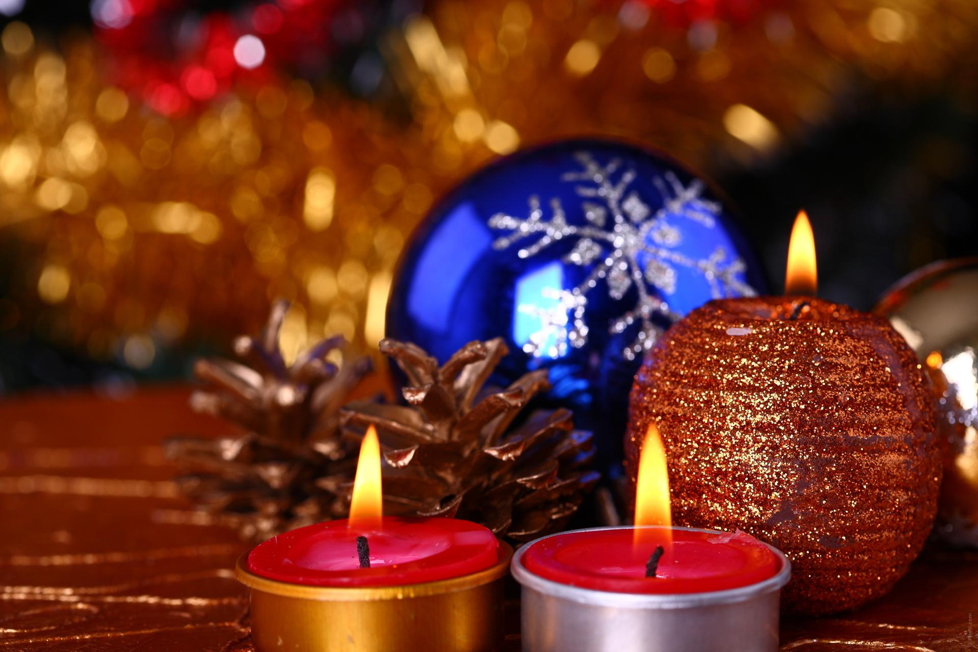 Свечи новый год  № 1395175  скачать