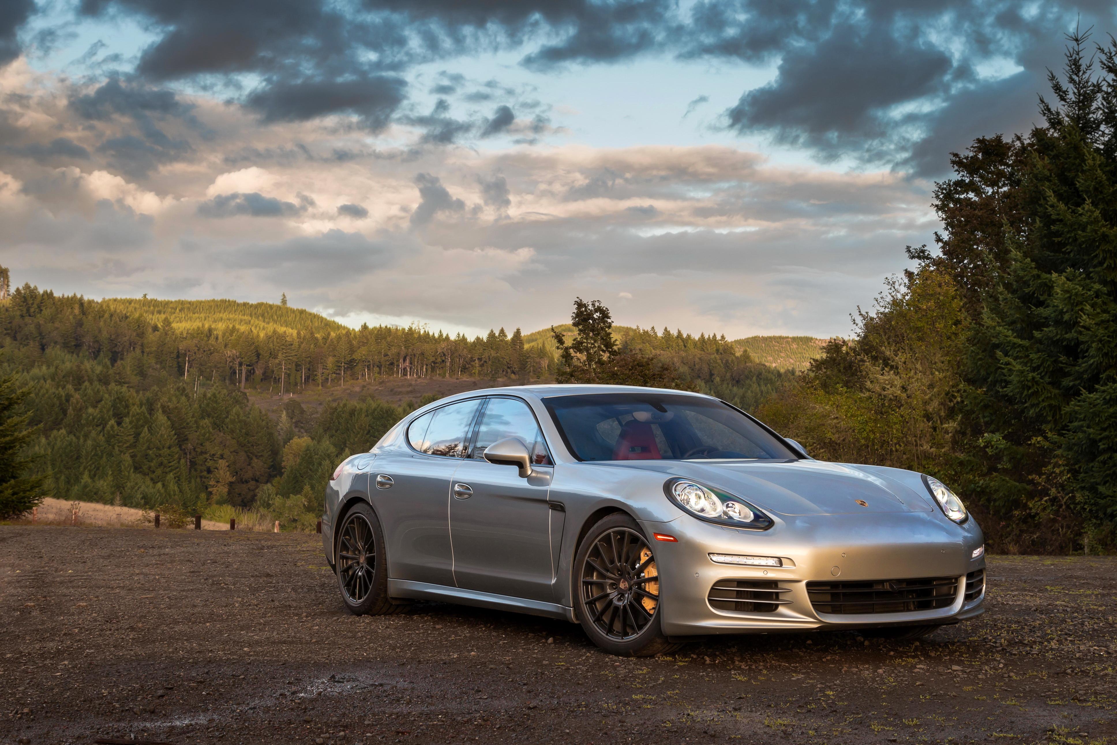 серебристая Porsche  № 984889  скачать
