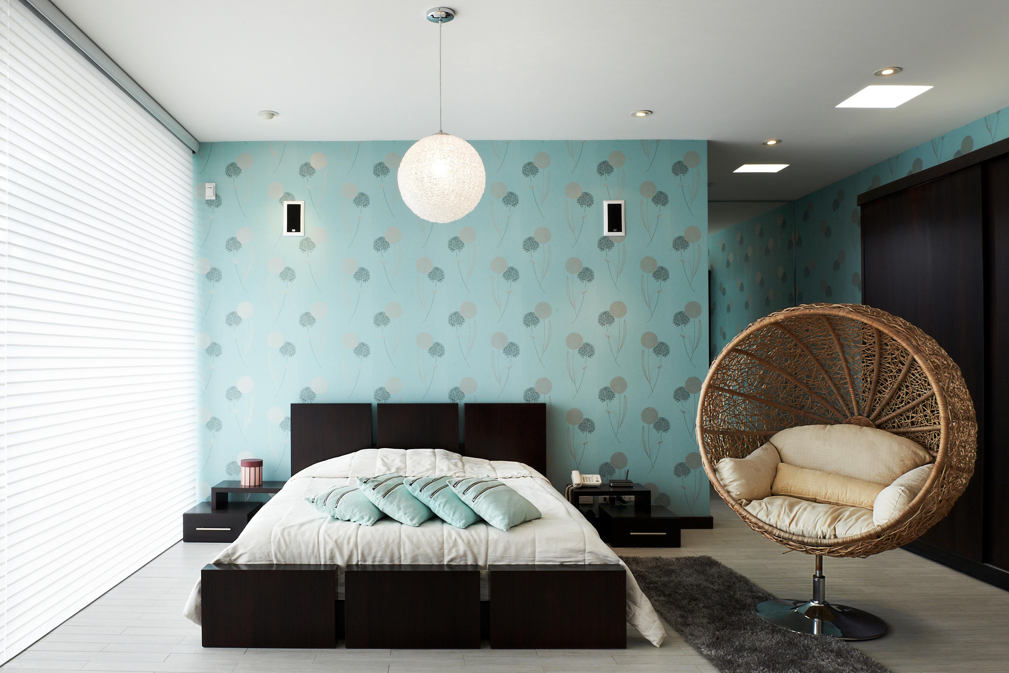 Бирюзовая комната дизайн