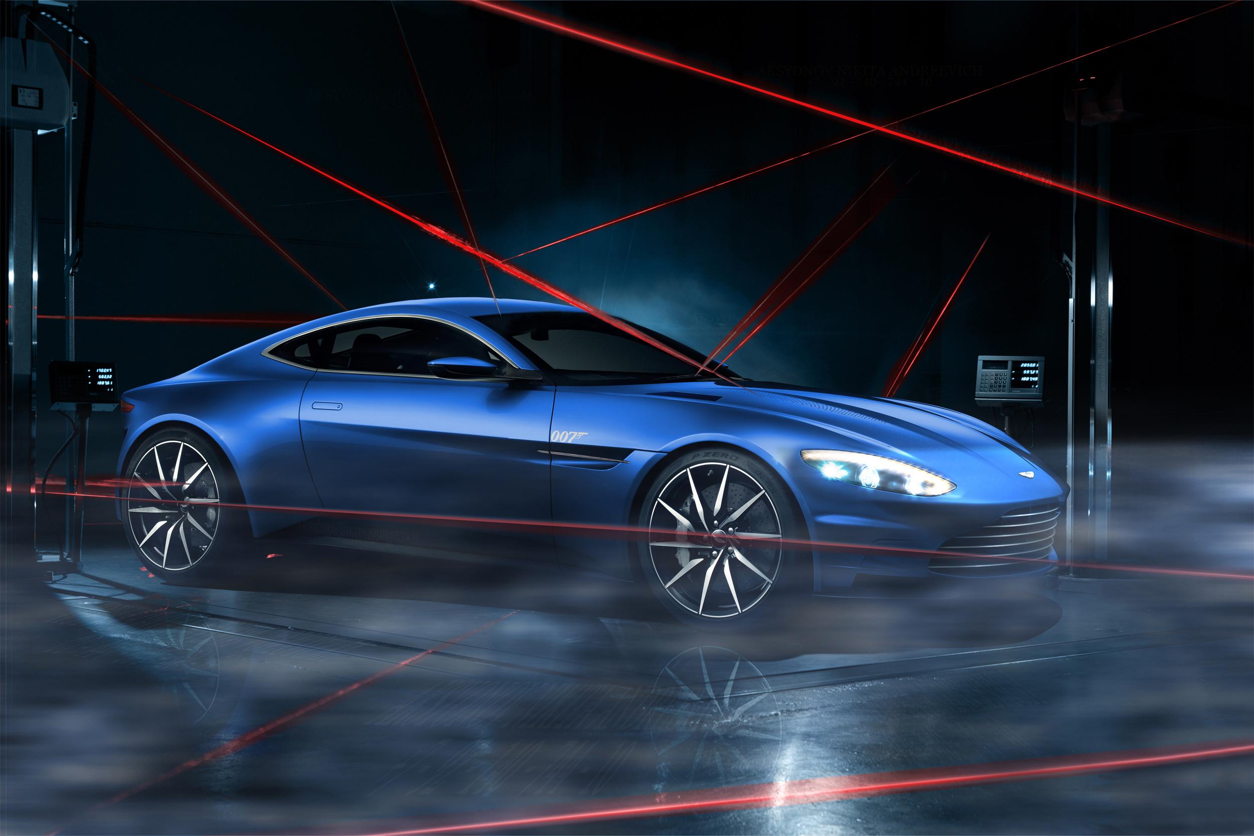 синий автомобиль Aston Martin  № 2593823 загрузить