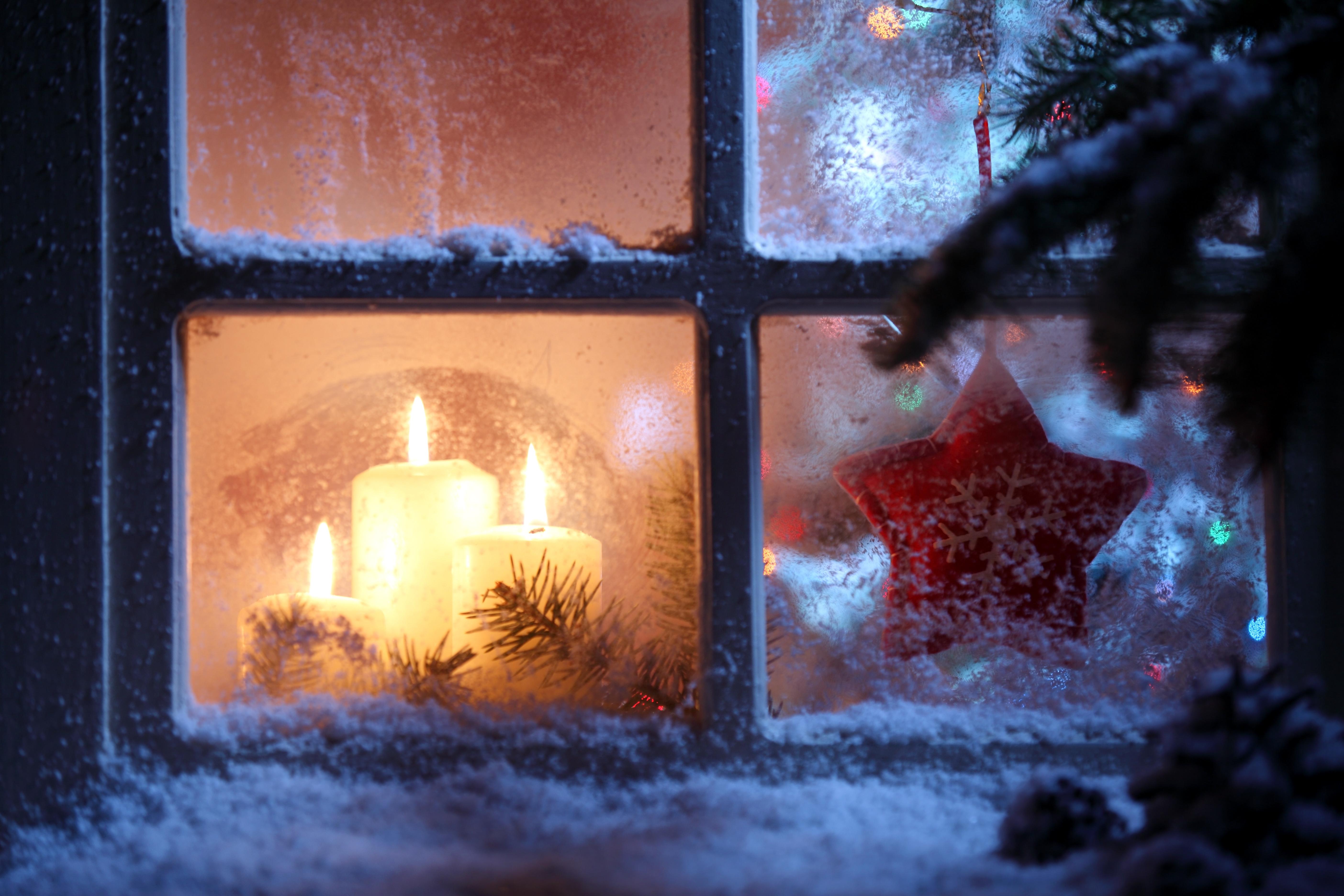 лампа свеча снег рождество lamp candle snow Christmas  № 3982761 загрузить