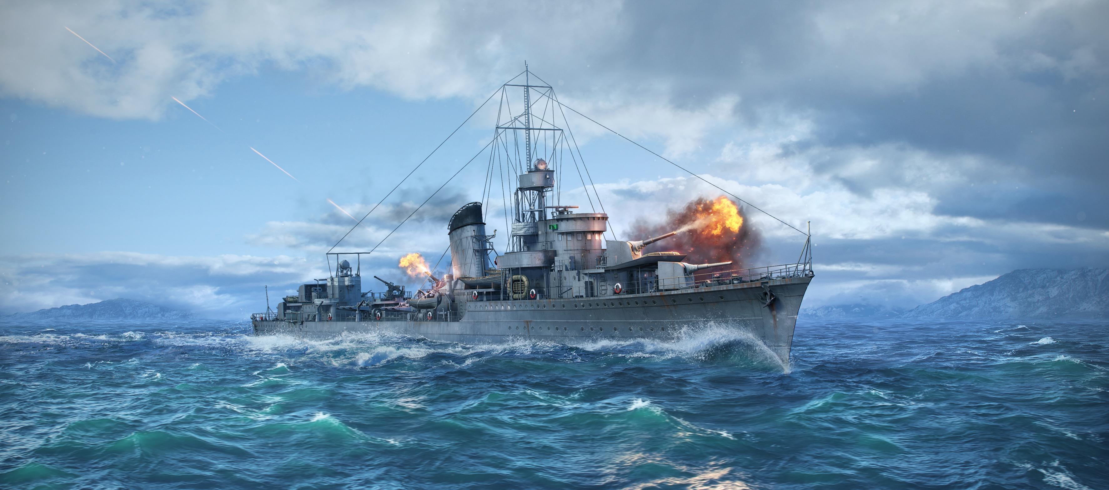 обои для рабочего стола world of warships 1280x1024 № 248396 загрузить