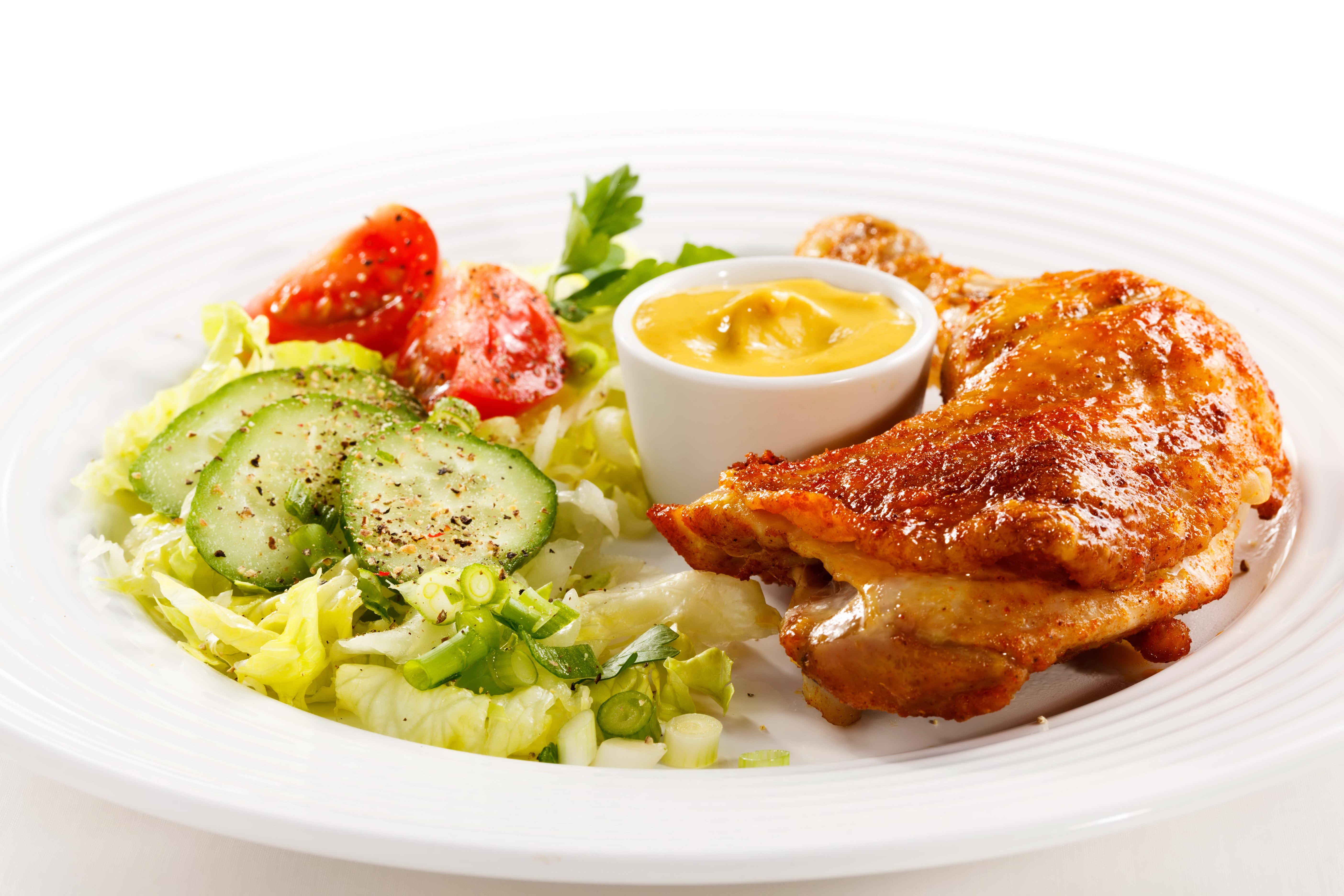 еда салаты рыба курица банкет  № 2124056 бесплатно