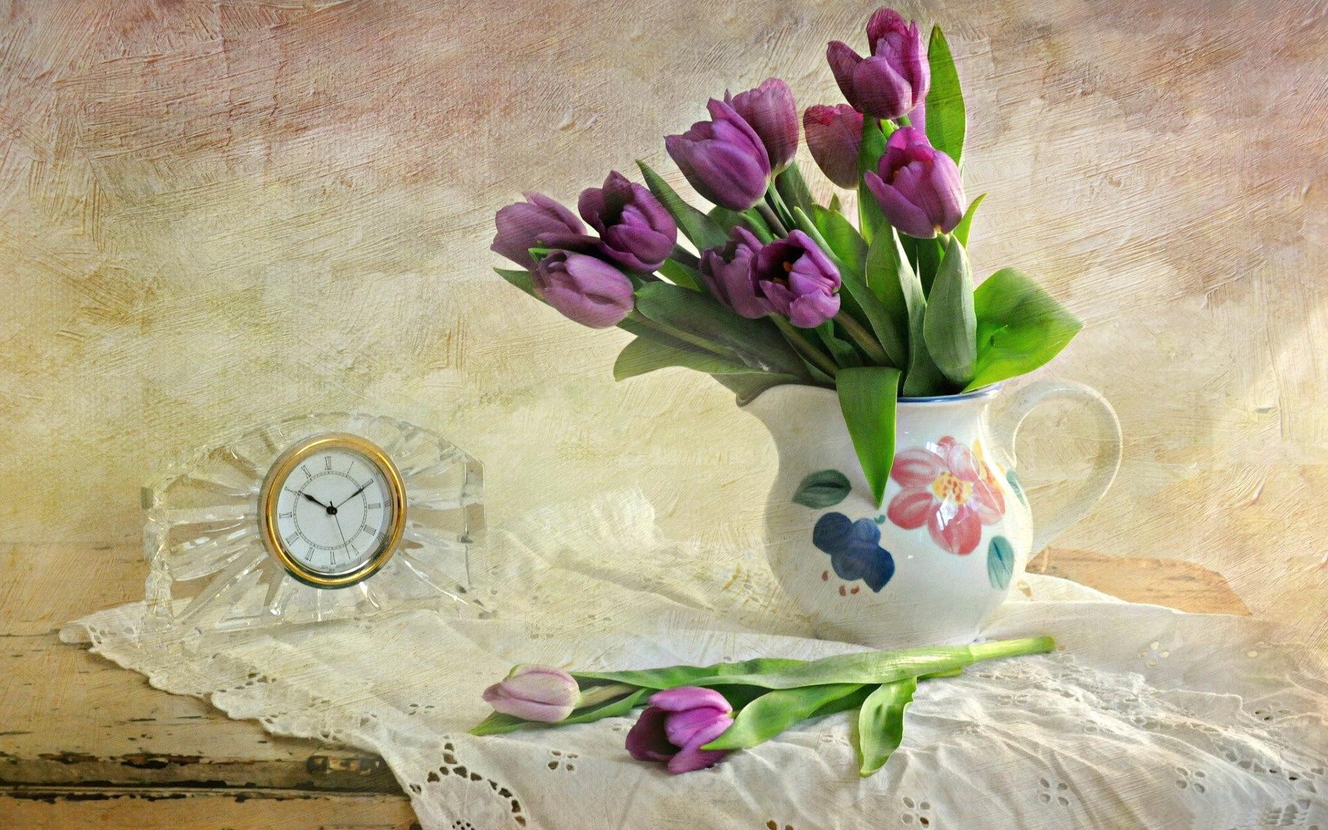 тюльпаны ваза море  № 1012848 загрузить