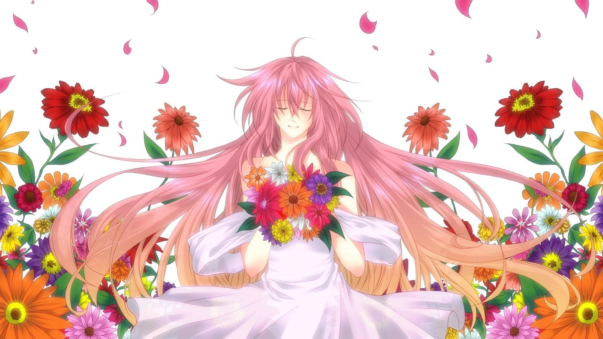 картинки аниме цветы: