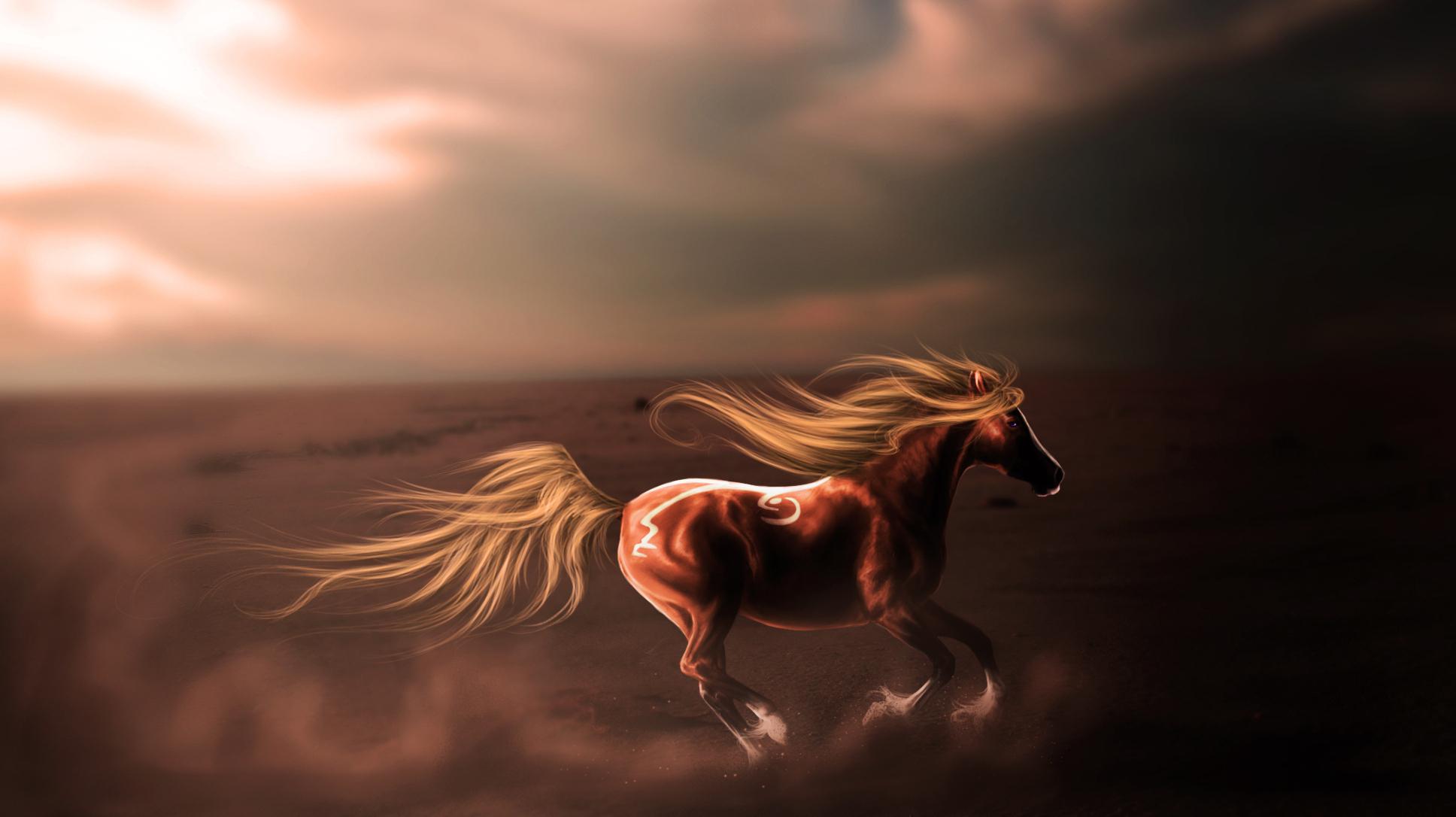 лошадь с гривой  № 3127223 бесплатно
