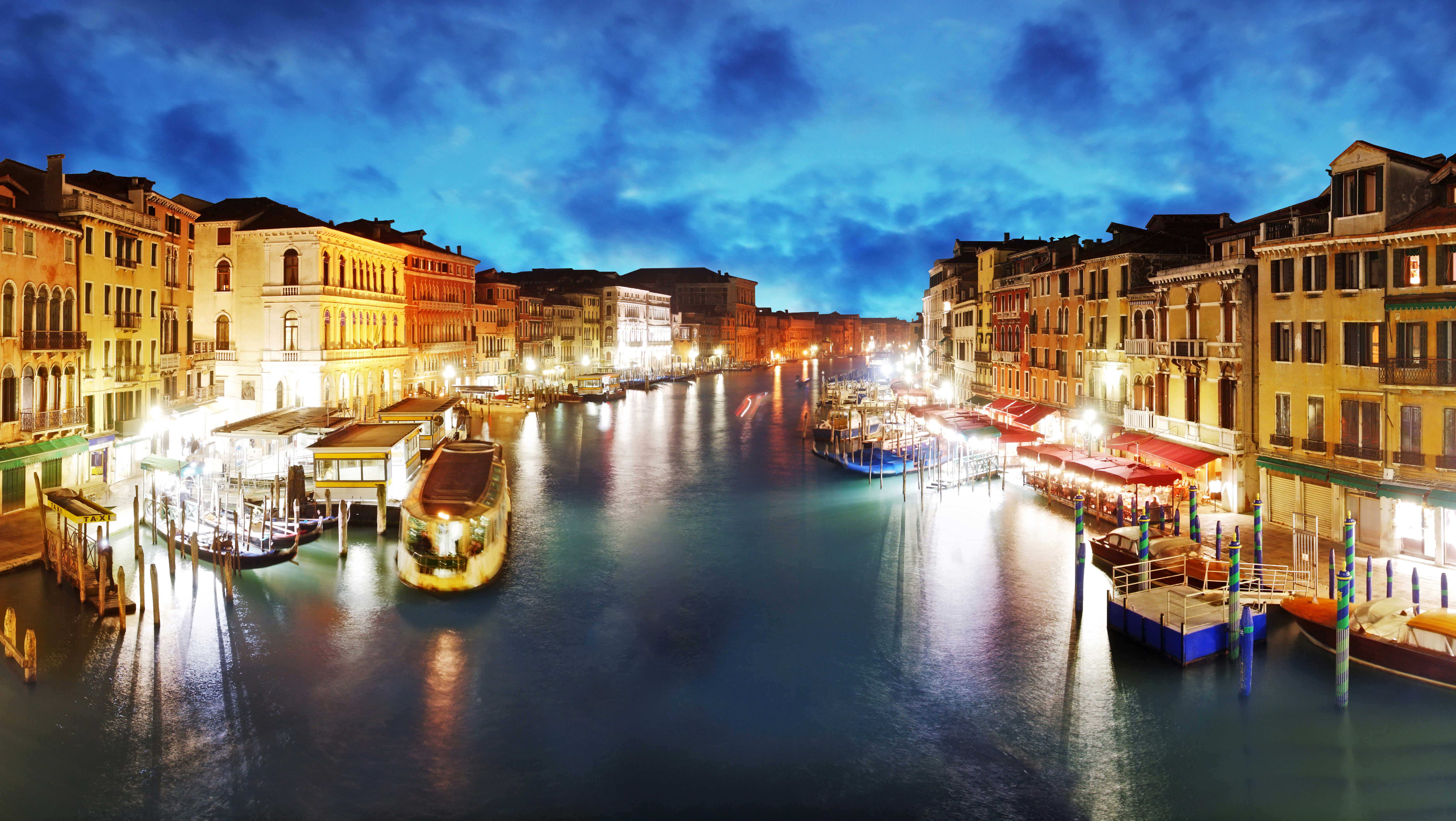 Sunset Over Grand Canal, Venice, Italy  № 1471235  скачать