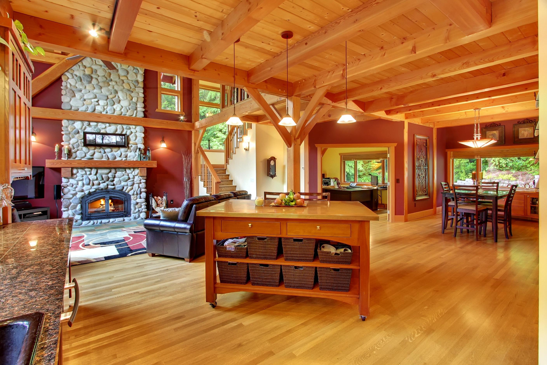 Картинки интерьеров деревянных домов
