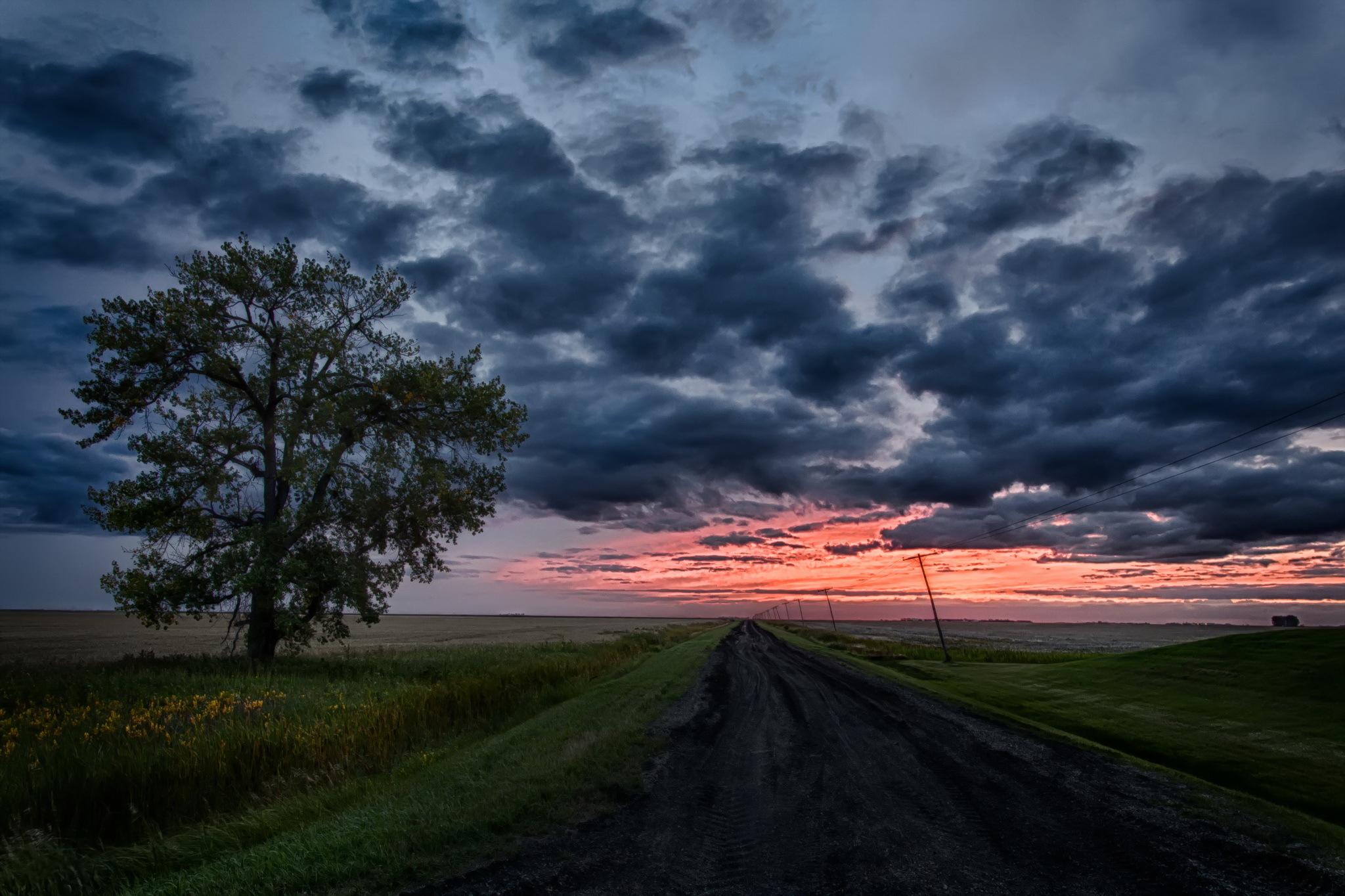природа небо облака дорога горизонт  № 772029 без смс