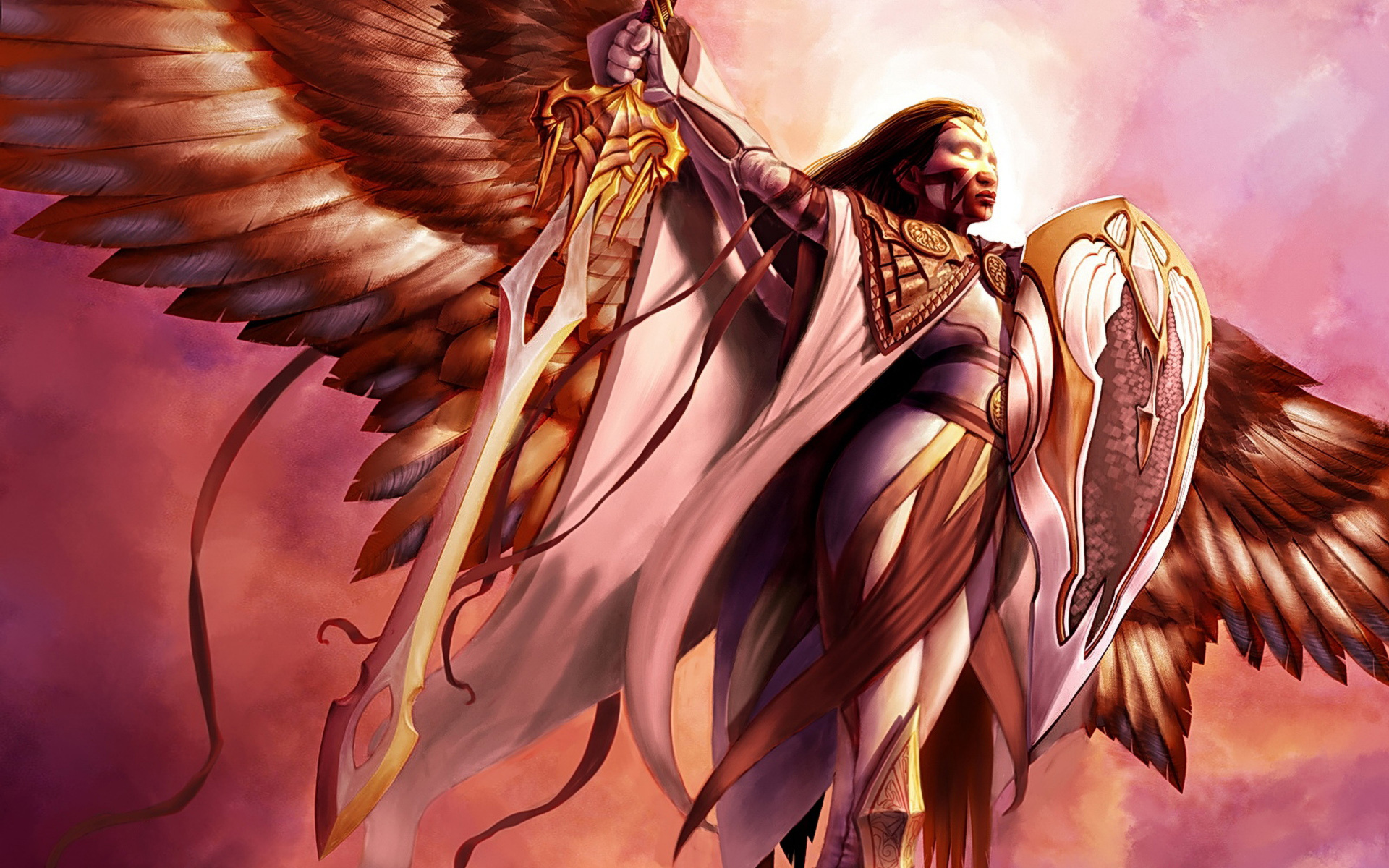 Фото архангела с девушкой