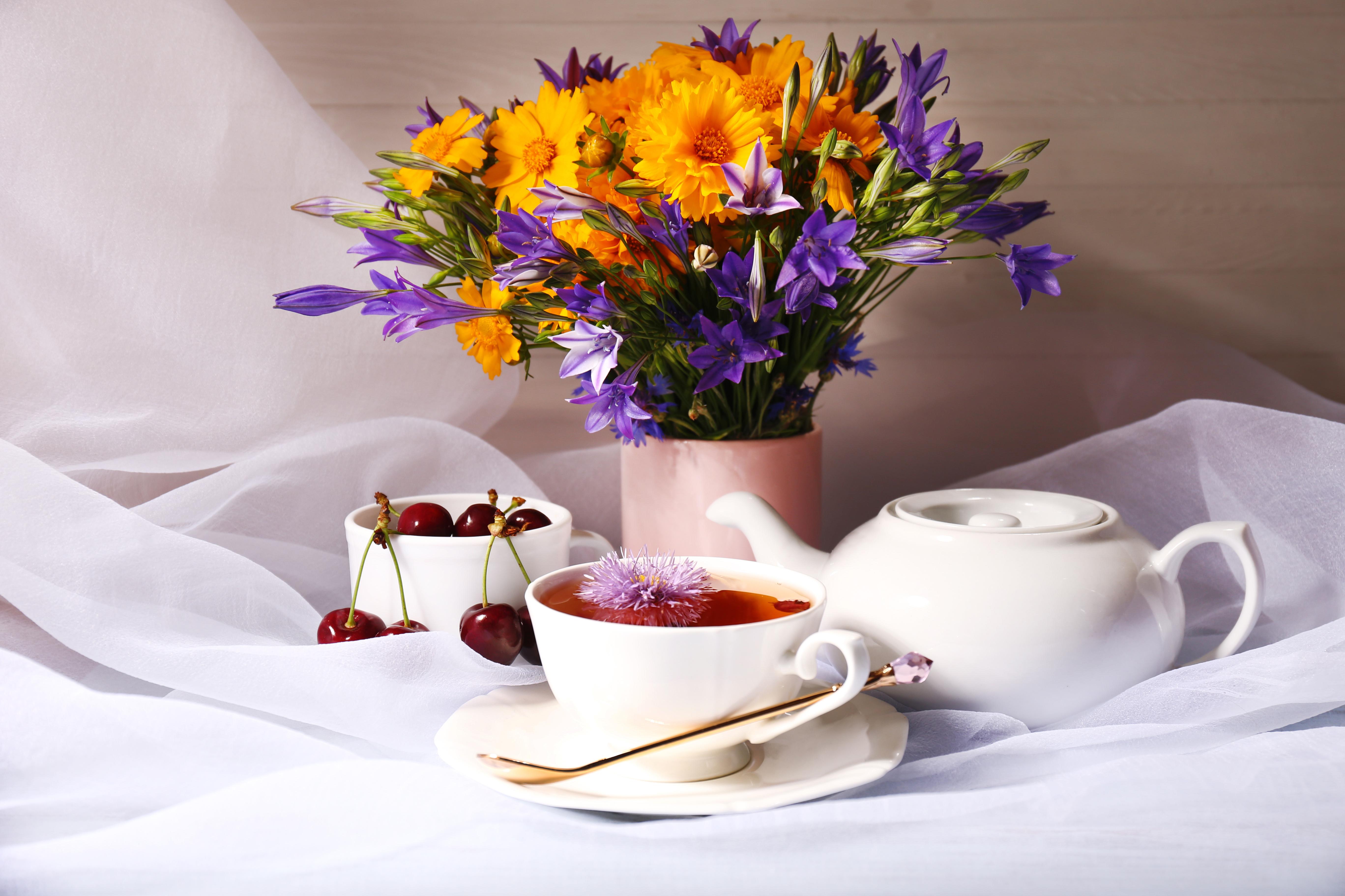 природа цветы чашка  № 1486808 бесплатно