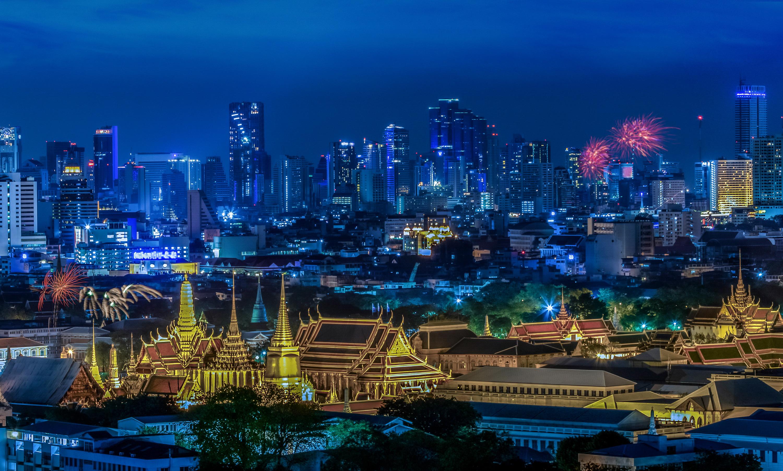страны архитектура Бангкок Таиланд ночь  № 2195068 бесплатно