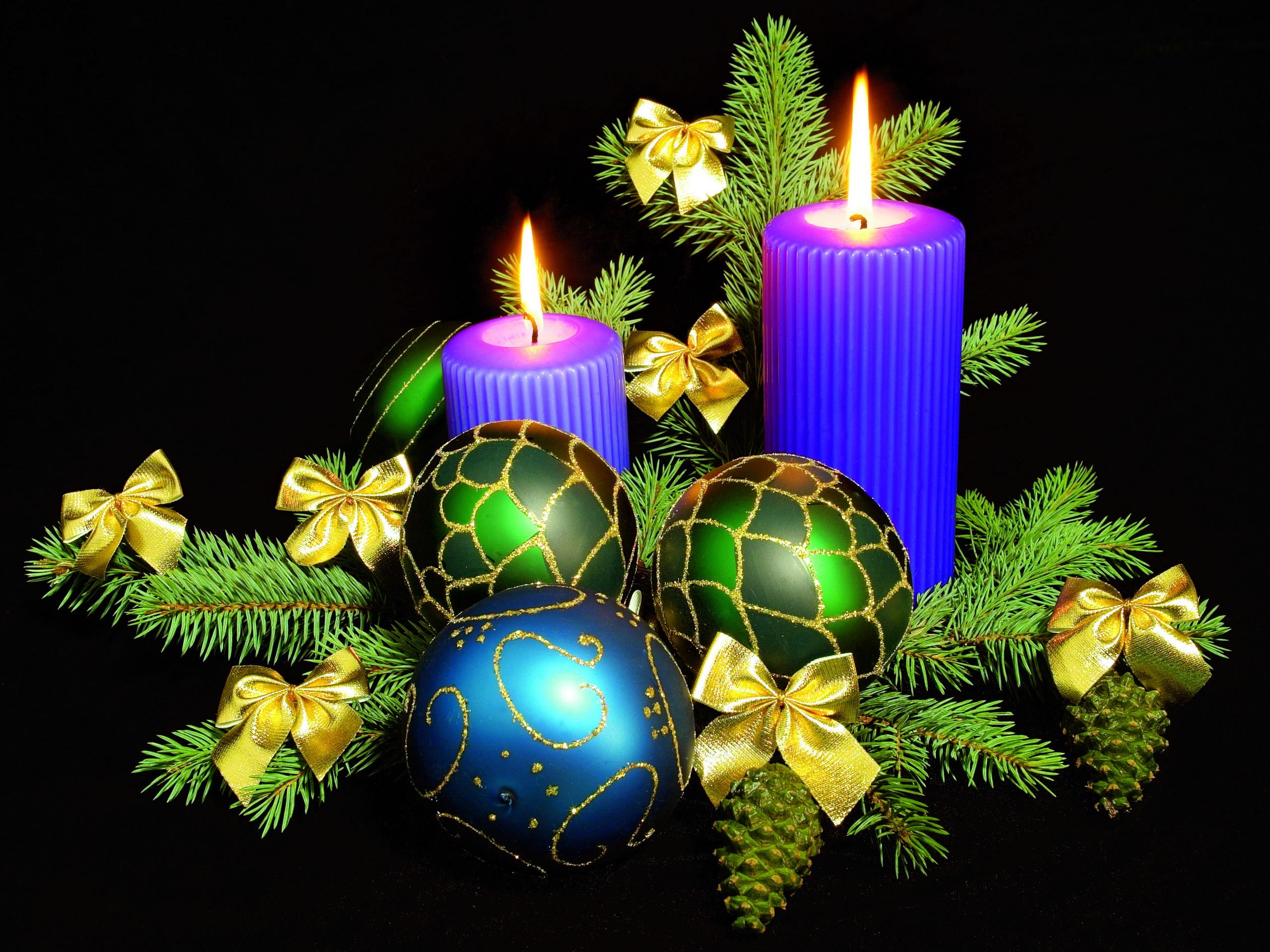 Свечи новый год  № 1395285 бесплатно